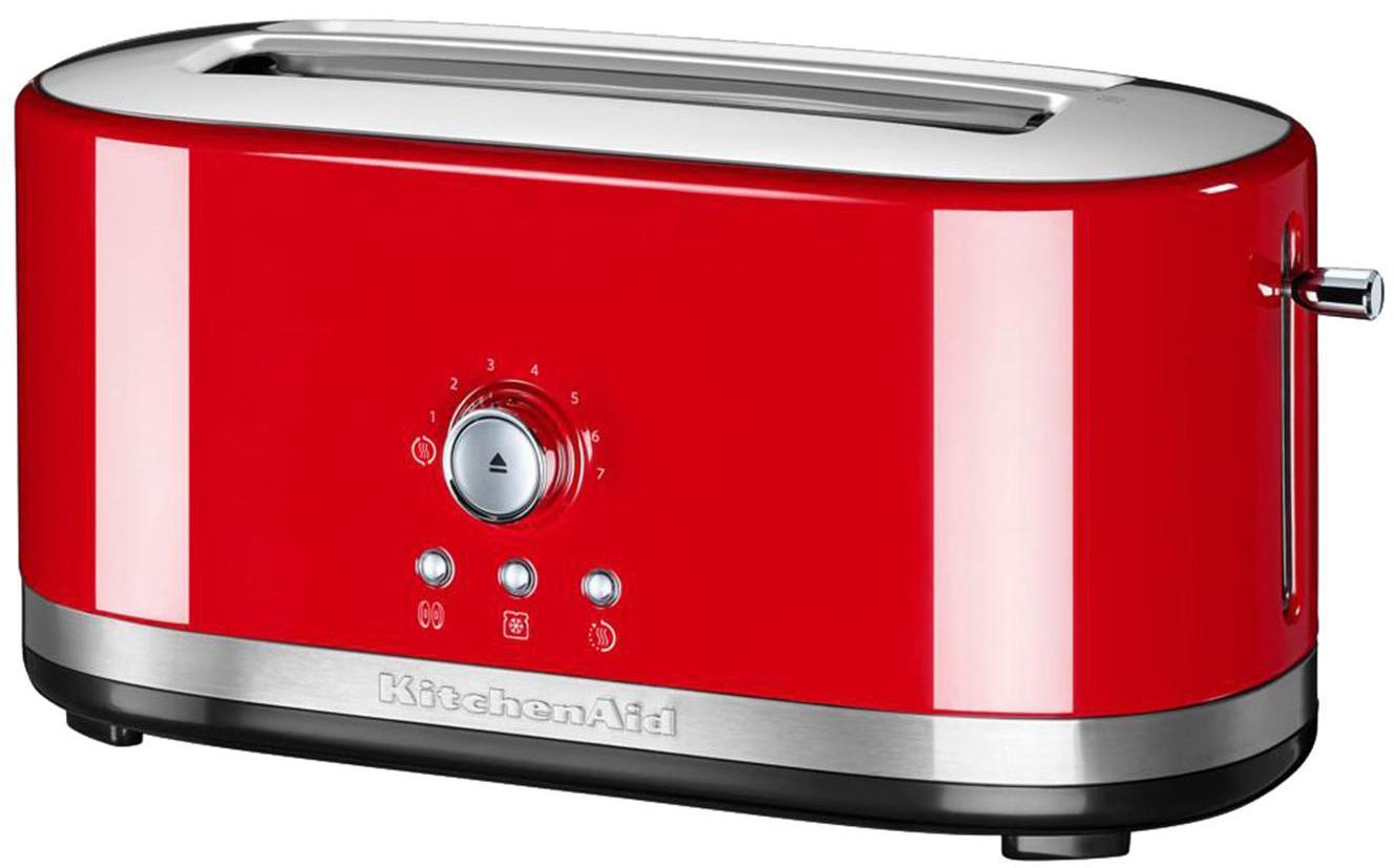 Langschlitz-Toaster KitchenAid, Gehäuse: Aluminiumdruckguss, Edels, Rot, 42 x 20 cm