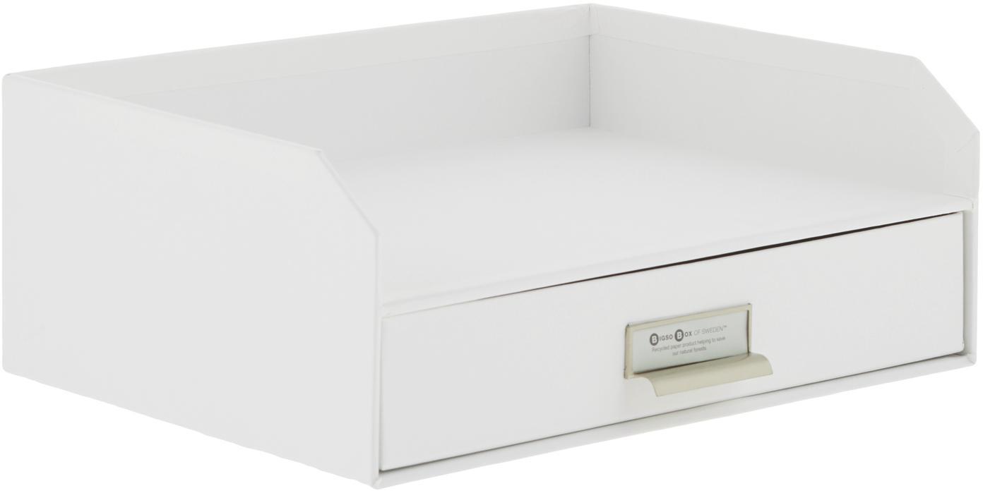 Organizer da ufficio Walter, Organizer: solido, cartone laminato, Bianco, Larg. 33 x Alt. 13 cm