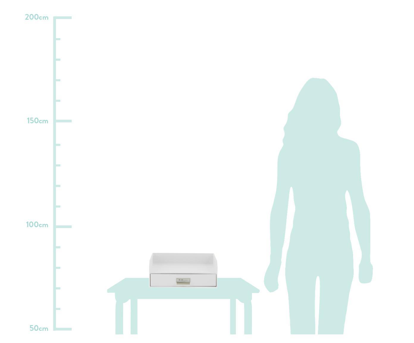 Büro-Organizer Walter, Organizer: Fester, laminierter Karto, Weiß, 33 x 13 cm