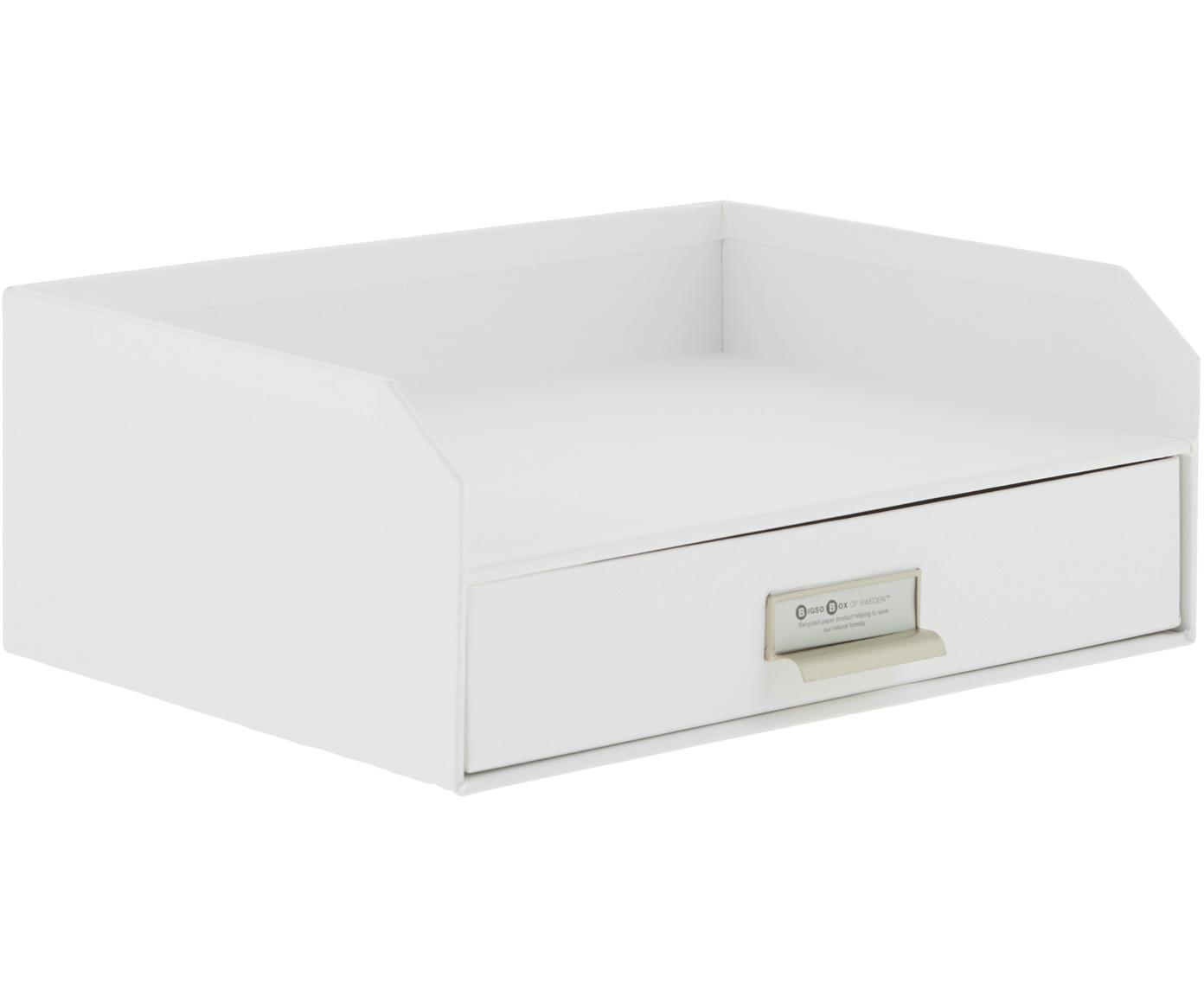 Organizador de escritorioWalter, Organizador: cartón laminado, Blanco, An 33 x Al 13 cm