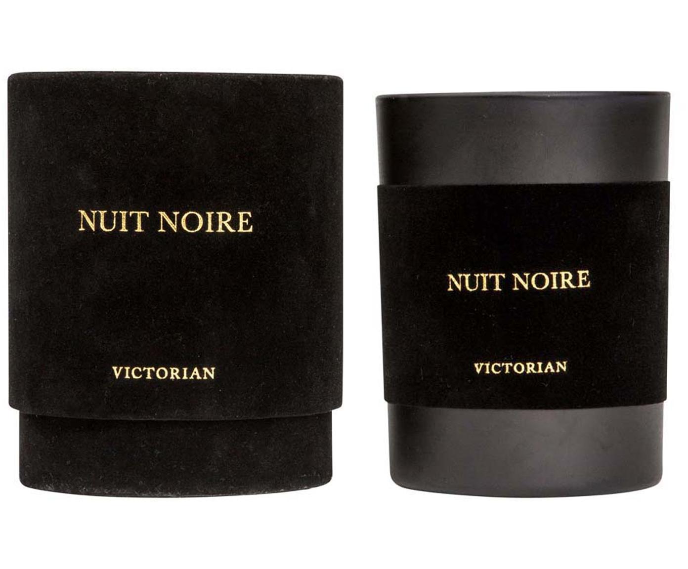 Geurkaars Nuit Noire (jasmijn & muskus), Houder: glas, Zwart, Ø 8 x H 10 cm