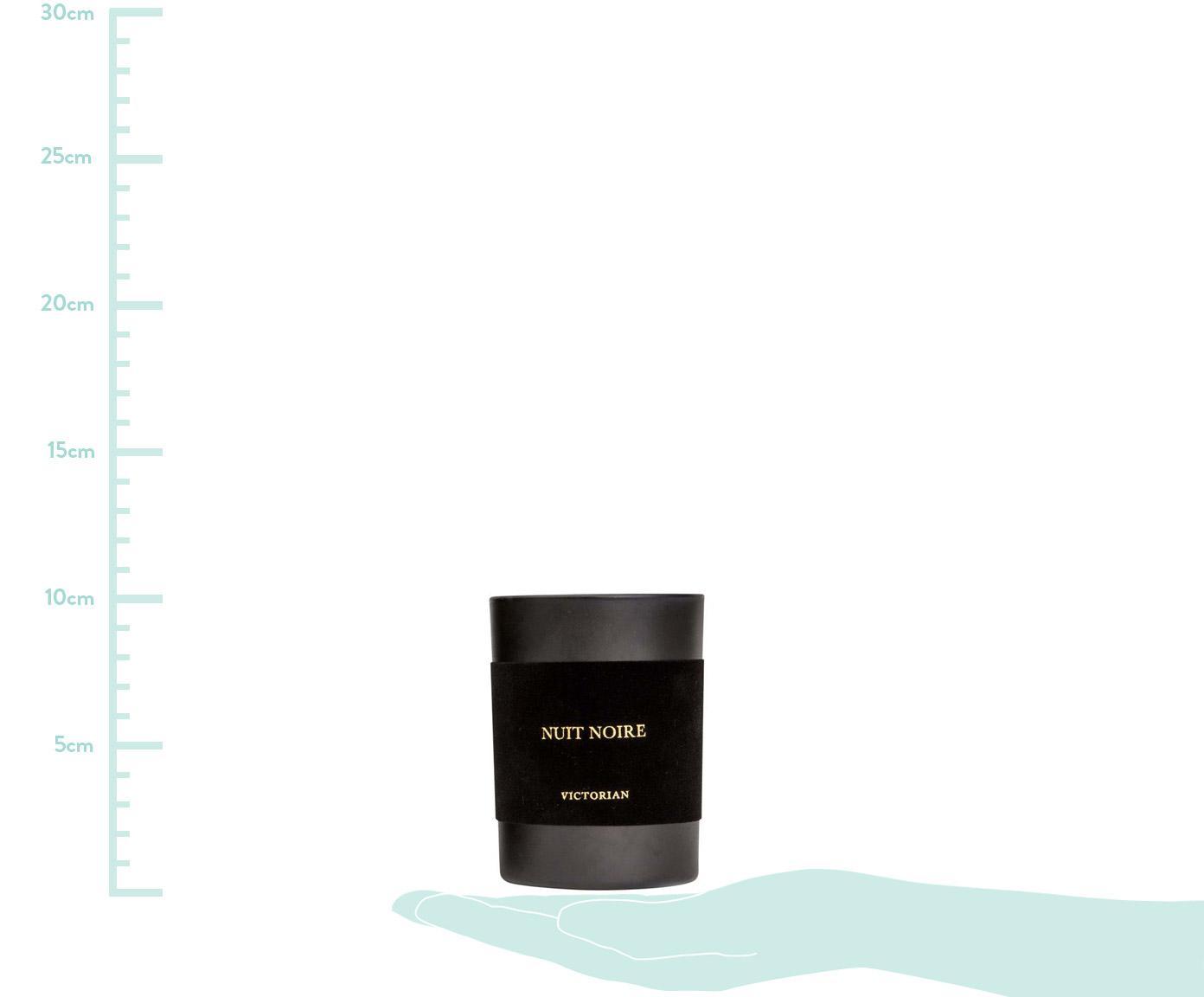 Świeca zapachowa Nuit Noire (jaśmin & piżmo), Czarny, Ø 8 x W 10 cm