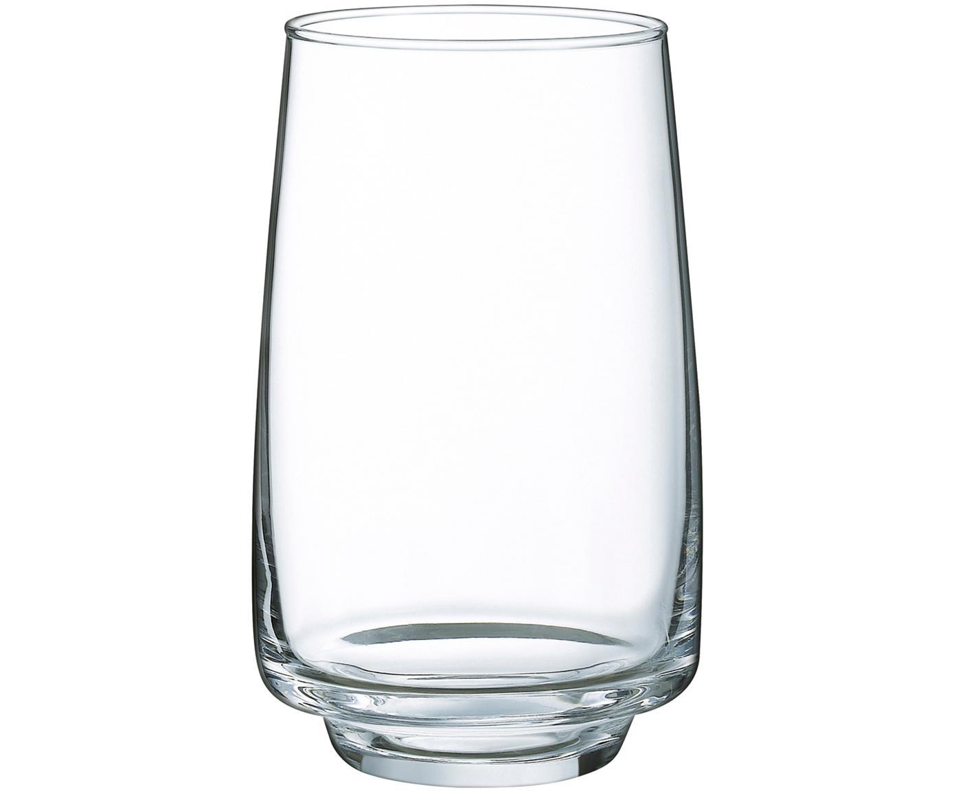 Vaso Forma, 6uds., vidrio de sílice, Transparente, Ø 8 x Al 12 cm