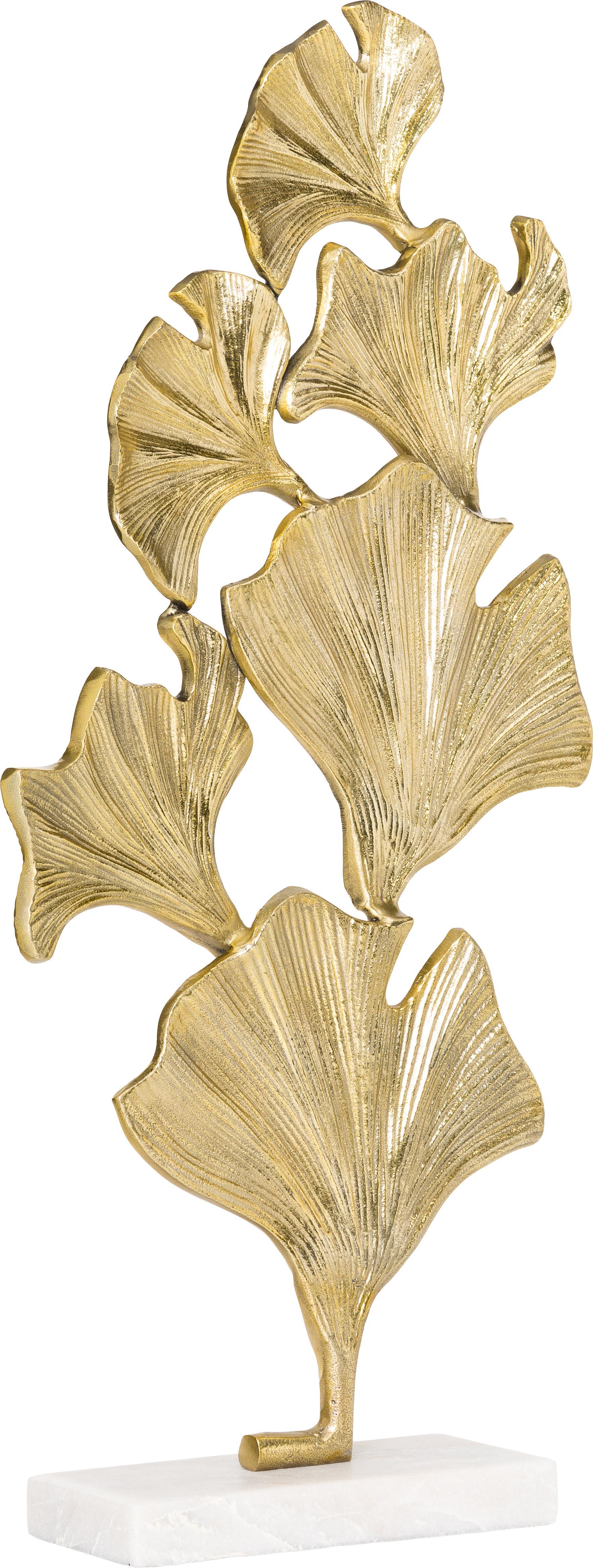 Deko-Objekt Duke, Sockel: Marmor, Goldfarben, 35 x 70 cm