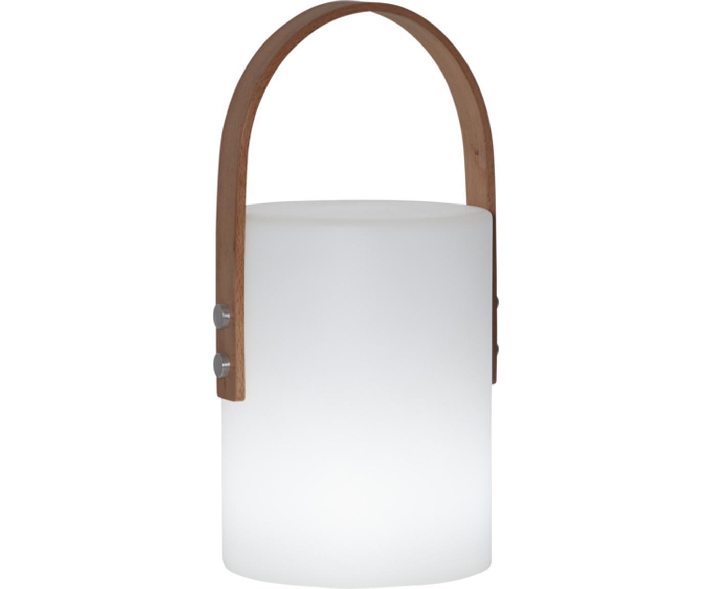 Lámpara de exterior LED Lucie, Asa: madera, Cable: plástico, Blanco, madera, L 19 x Al 34 cm