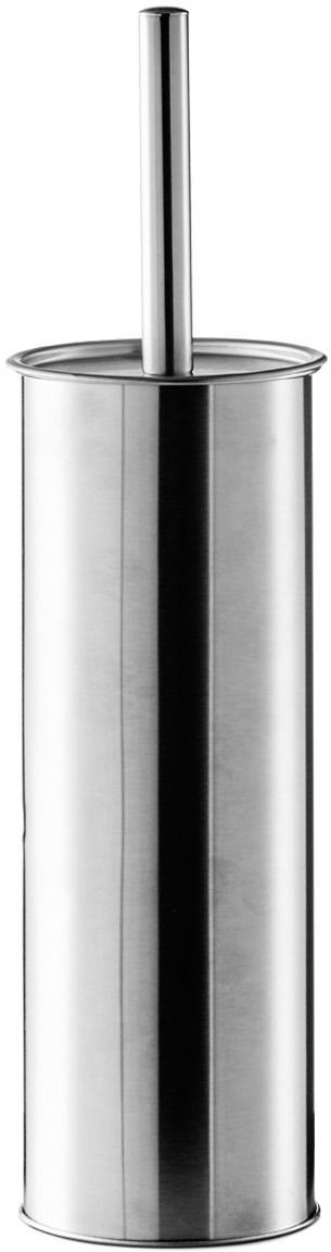 Szczotka toaletowa z pojemnikiem ze stali szlachetnej Classic, Stal szlachetna, Ø 10 x W 38 cm