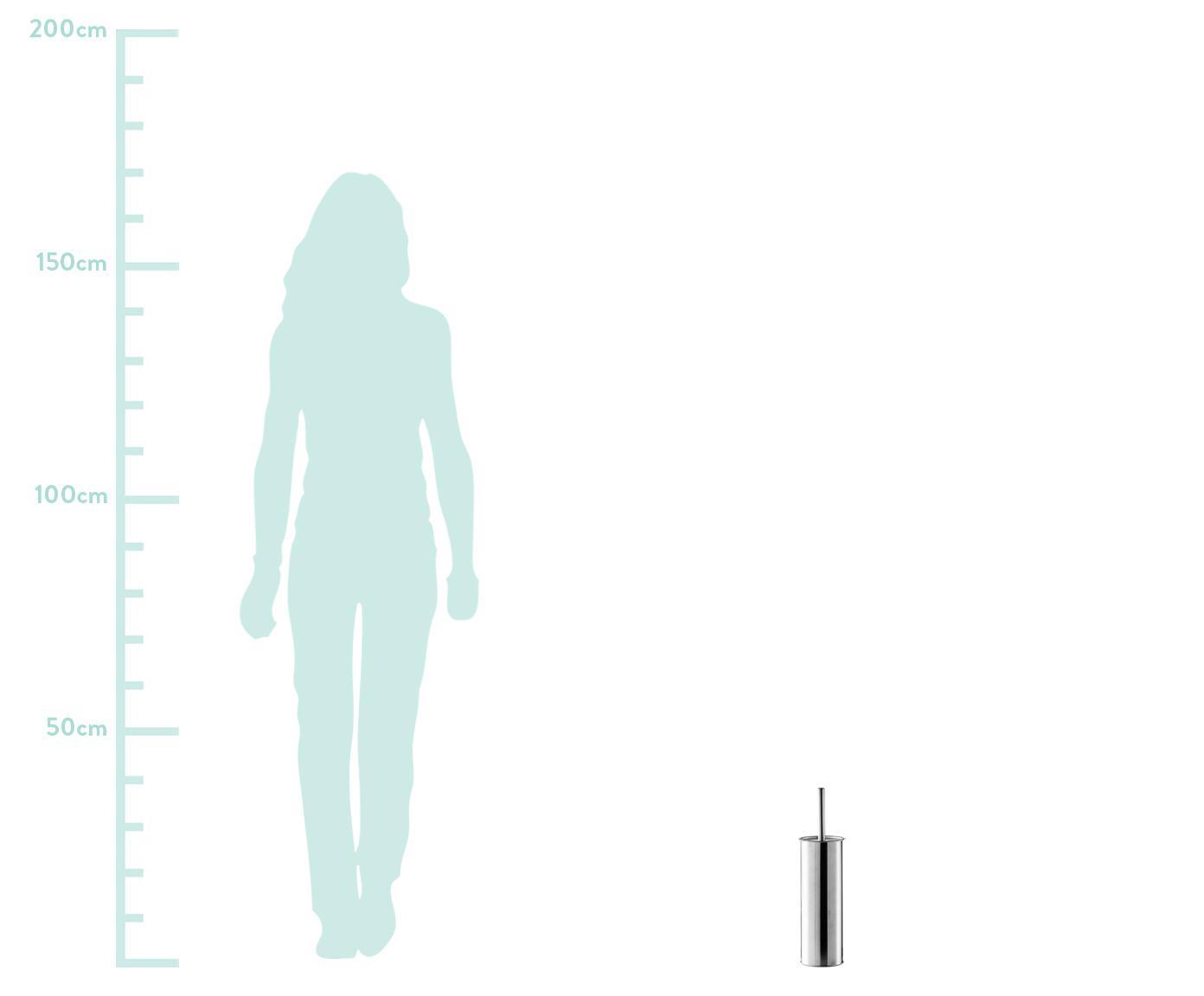 Toilettenbürste Classic mit Edelstahl-Behälter, Gefäß: Edelstahl, Griff: Edelstahl, Edelstahl, Ø 10 x H 38 cm