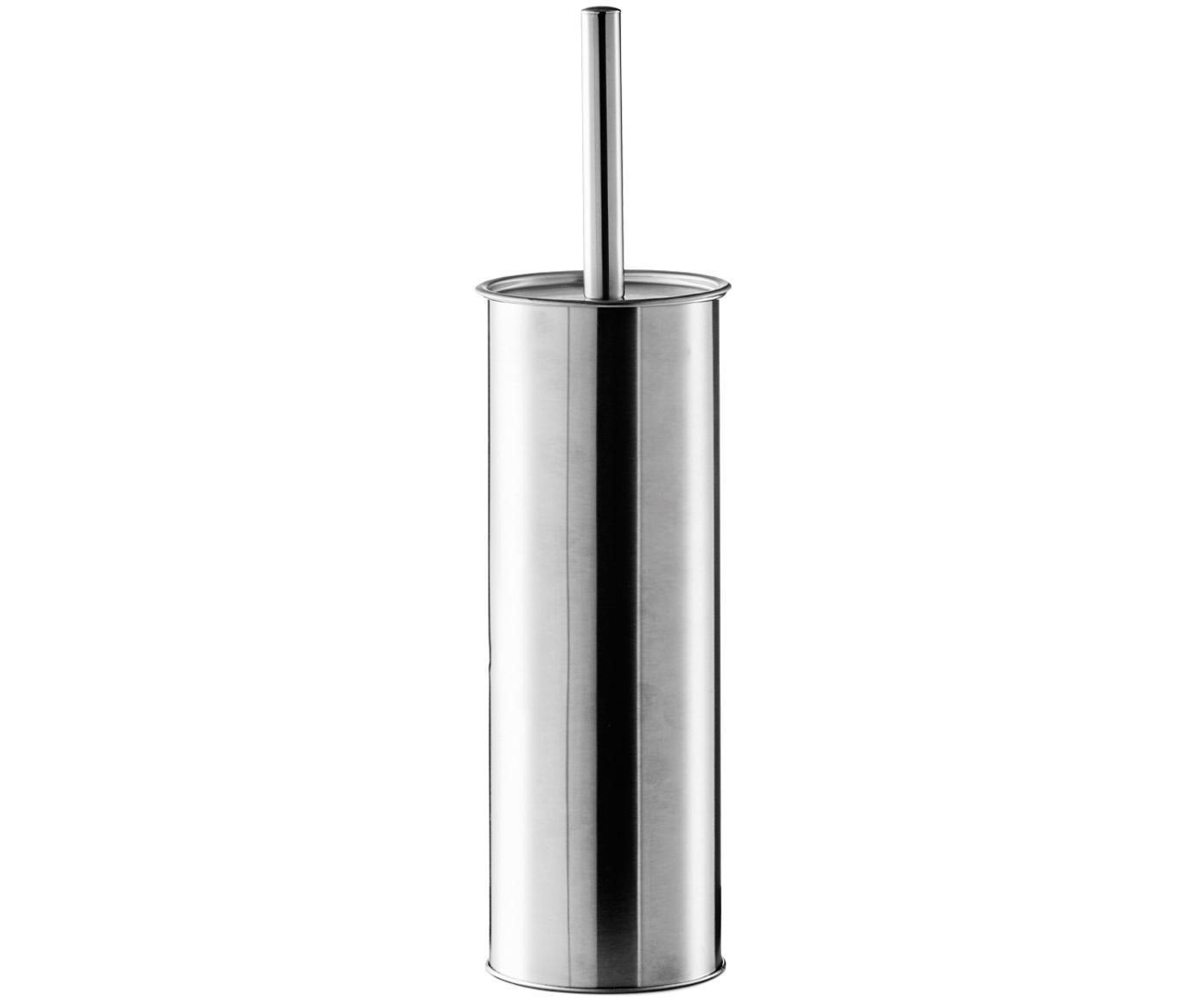 Toilettenbürste Classic mit Edelstahl-Behälter, Griff: Edelstahl, Edelstahl, Ø 10 x H 38 cm