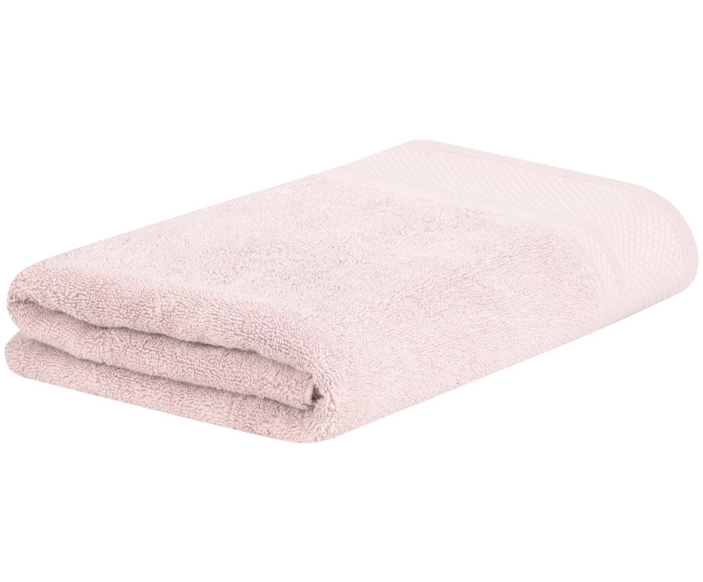 Asciugamano con bordo decorativo Premium, diverse misure, Rosa cipria, Asciugamano
