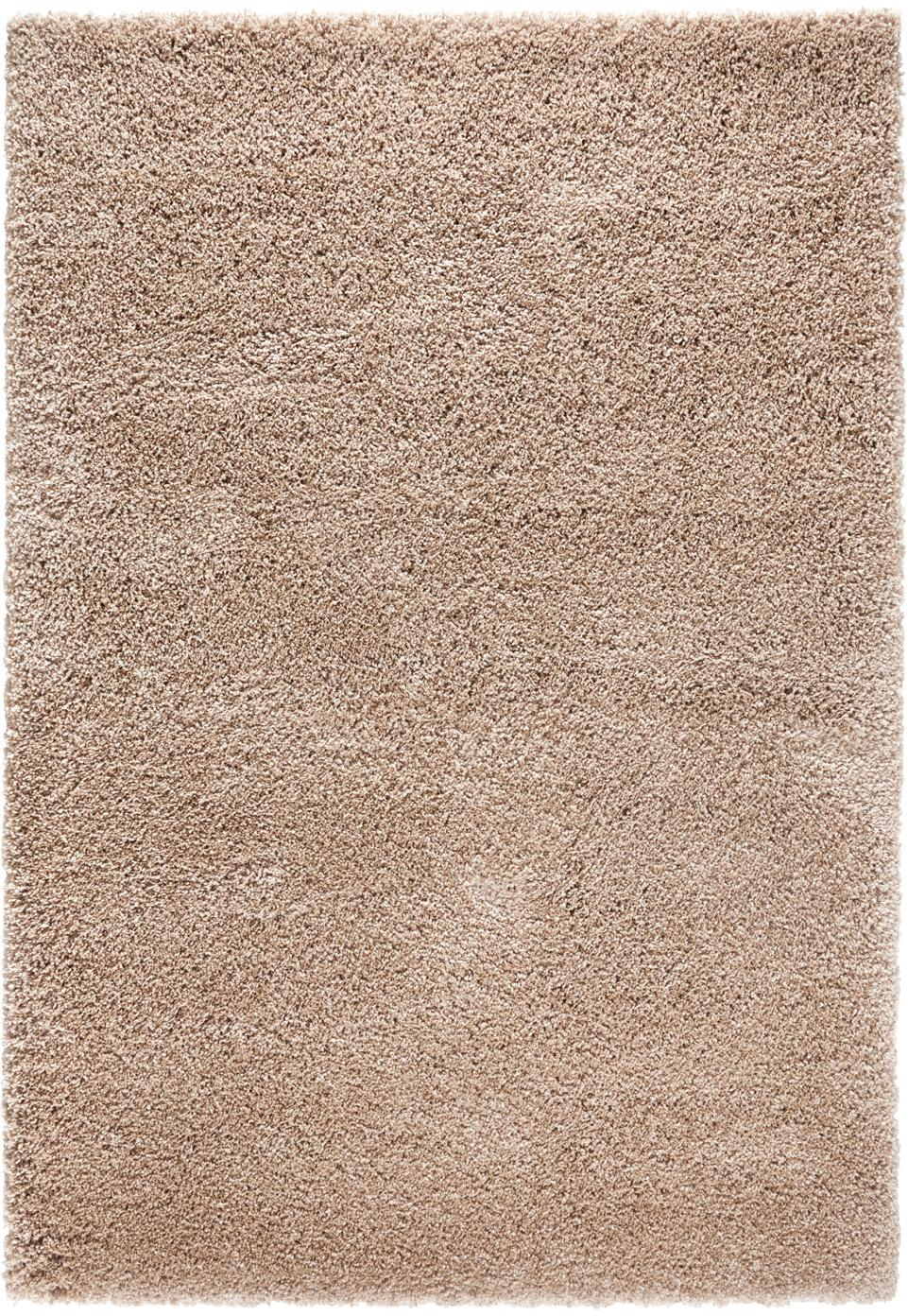 Flauschiger Hochflor-Teppich Venice in Braun, Flor: 100% Polypropylen, Braun, B 120 x L 170 cm (Grösse S)