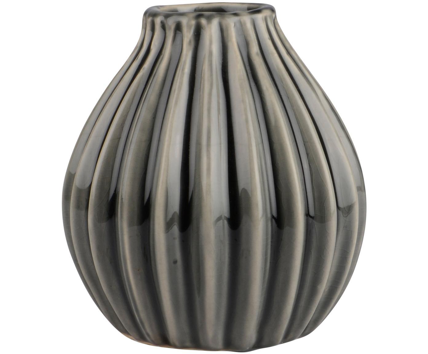 Wazon z ceramiki Agnes, Ceramika, Szary, Ø 12 x W 13 cm