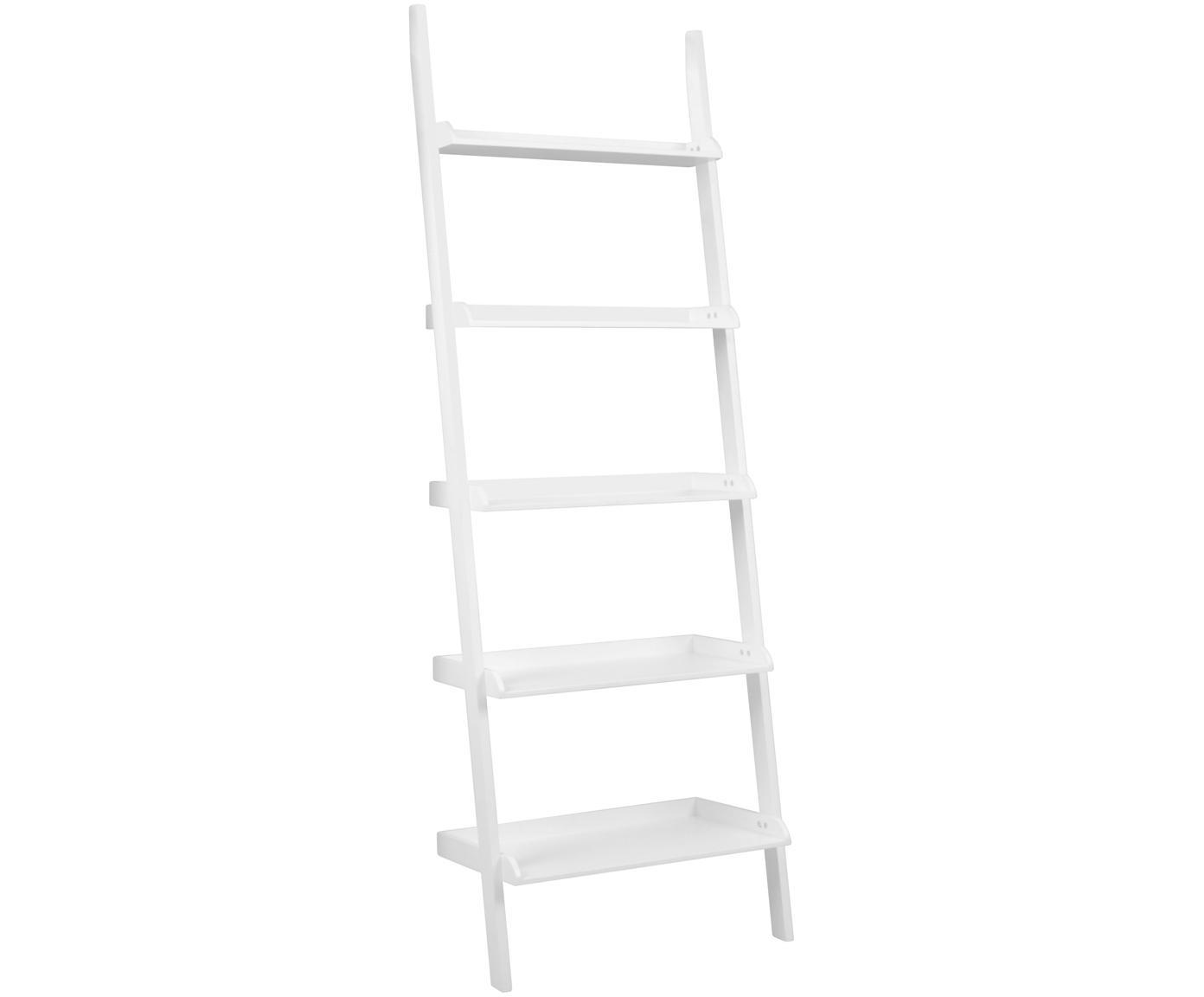 Estantería escalera Wally, Tablero de fibras de densidad media(MDF), pintado, Blanco, An 67 x Al 189 cm