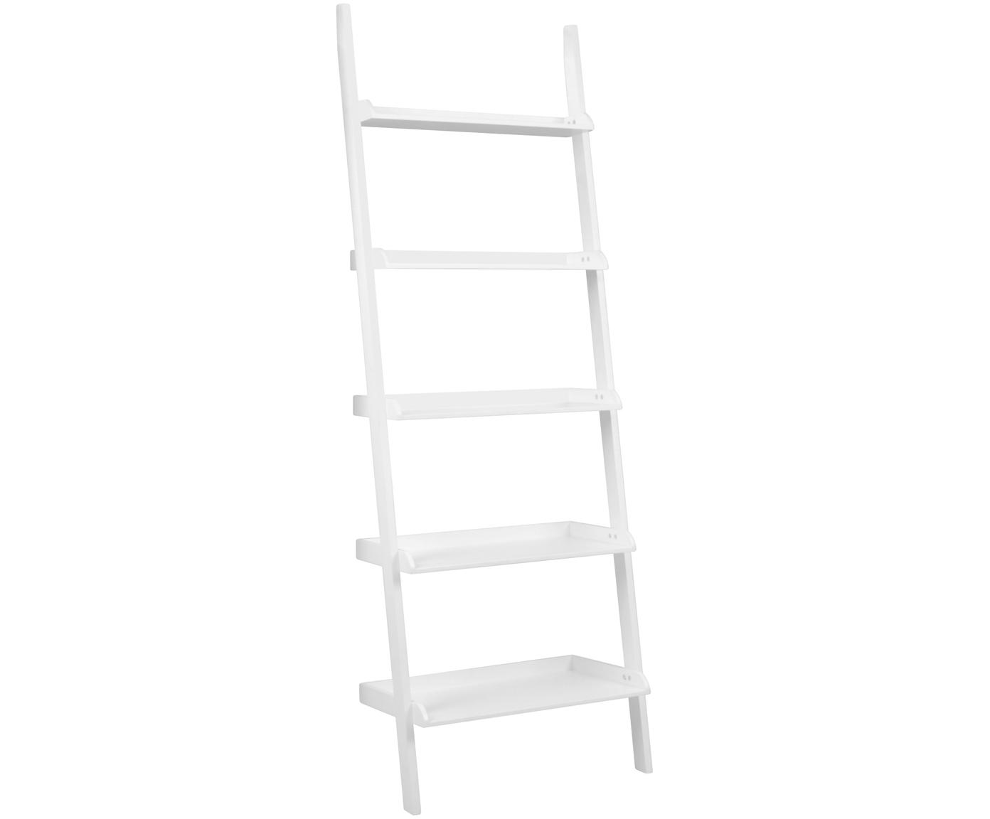 Ladder-wandkast Wally, Gelakt MDF, Wit, 67 x 189 cm