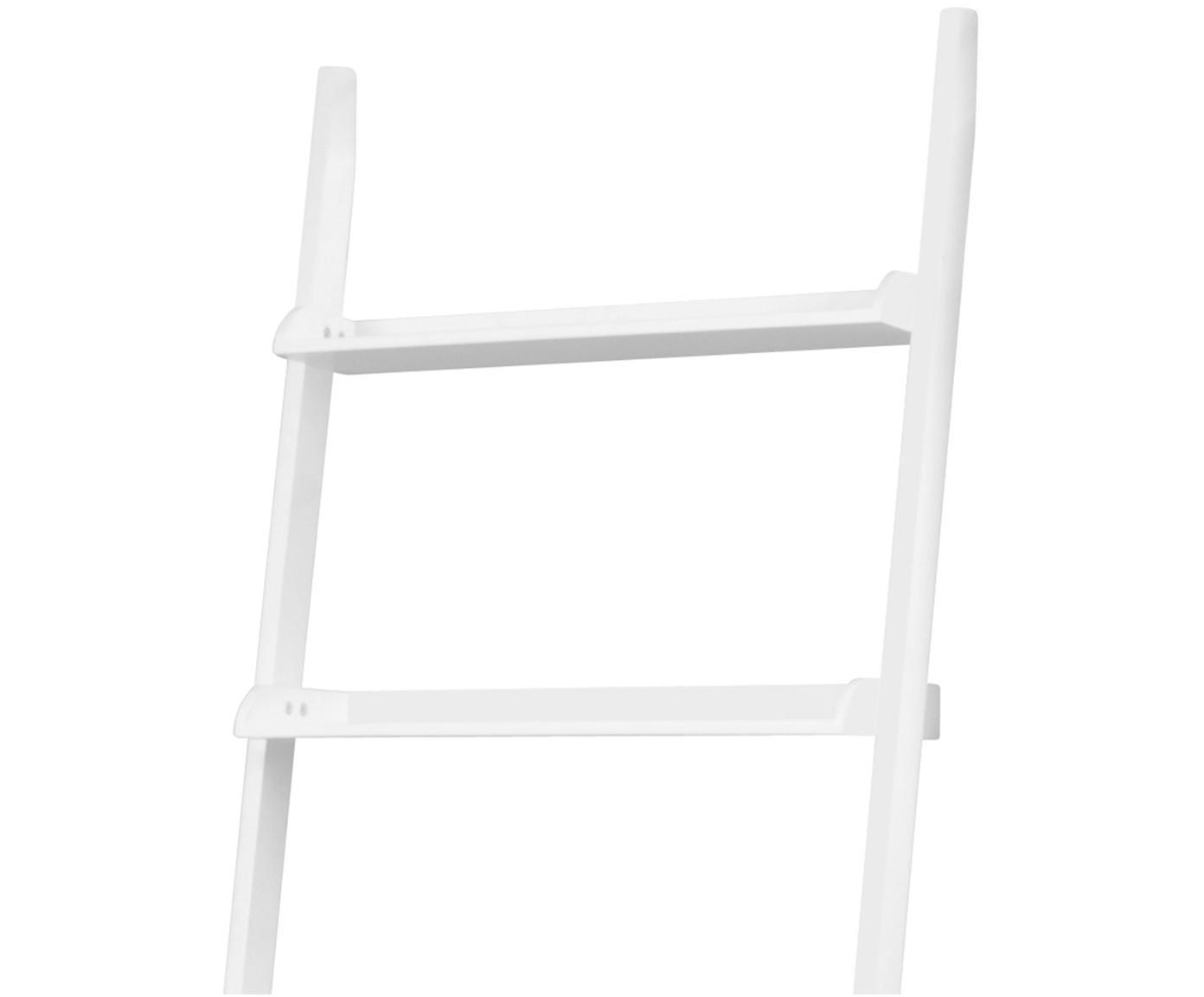 Leiter-Regal Wally in Weiß, Mitteldichte Holzfaserplatte (MDF), lackiert, Weiß, 67 x 189 cm