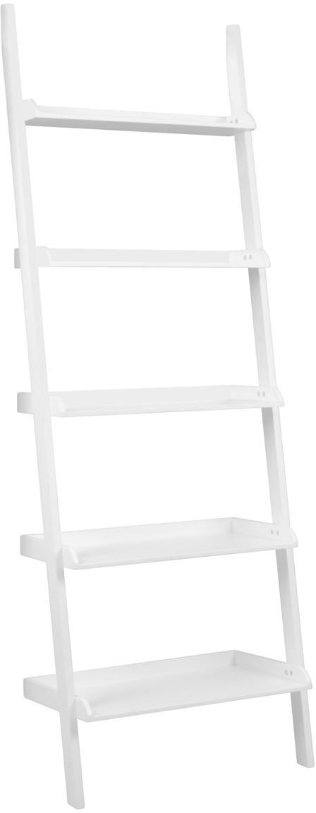 Estantería escalera Wally, Tablero de fibras de densidad media(MDF) pintado, Blanco, An 67 x Al 189 cm