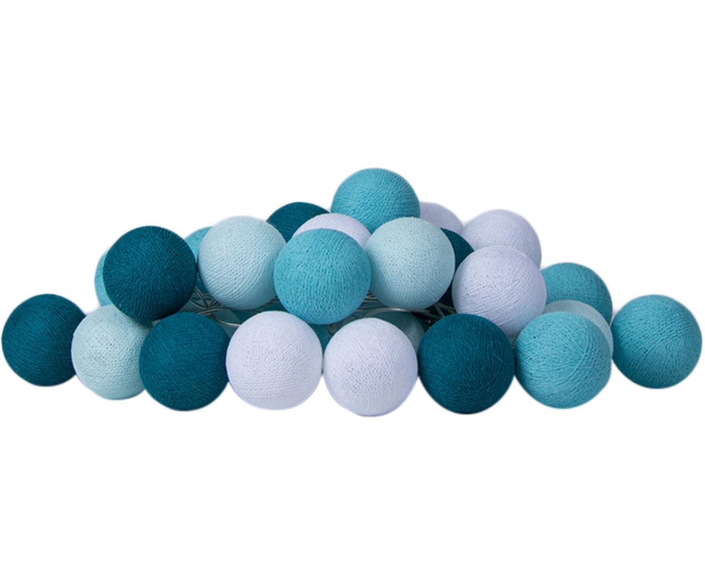 LED lichtslinger Colorain, Lampions: polyester, Blauwtinten, wit, L 264 cm