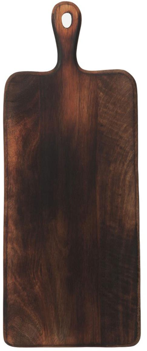 Schneidebrett Branek, Mangoholz, Dunkelbraun, 50 x 1 cm