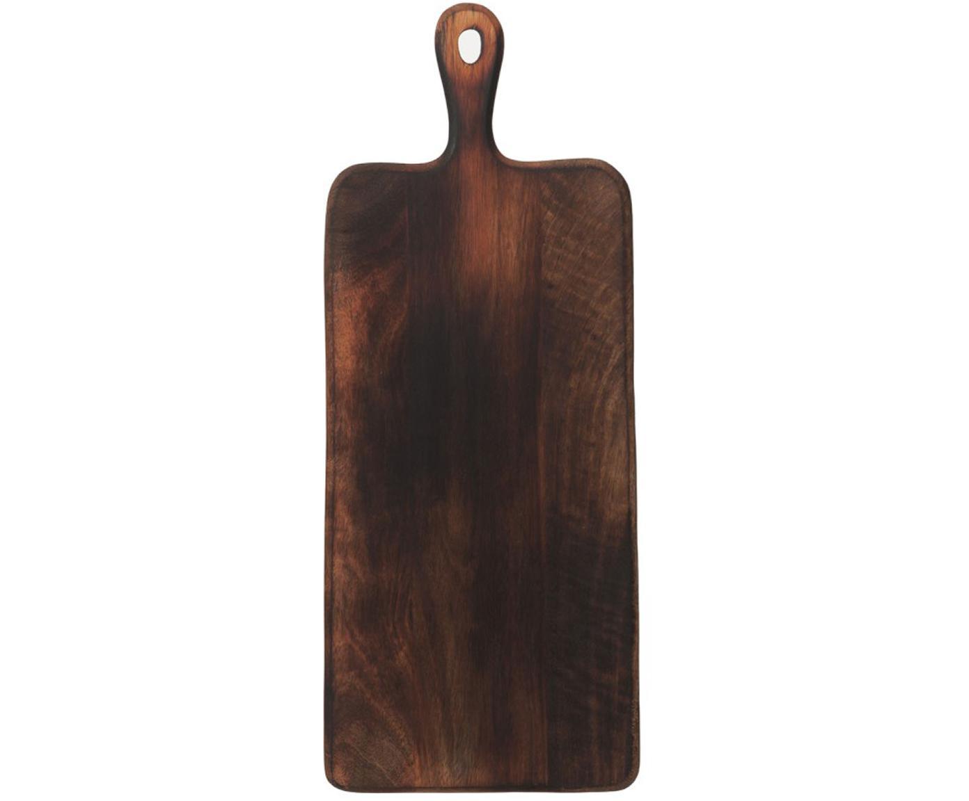 Tagliere in legno di mango Branek, Legno di magno, Marrone scuro, Larg. 50 x Alt. 1 cm