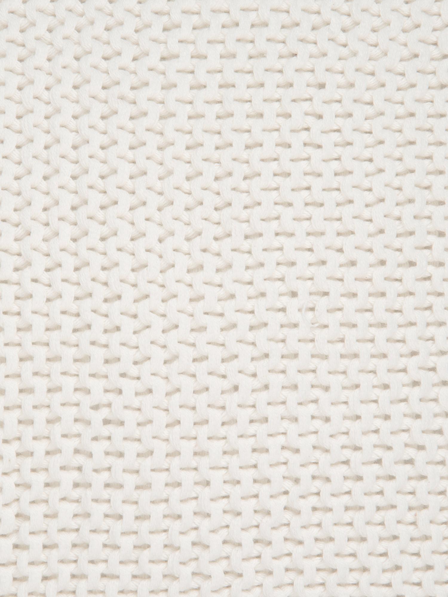 Funda de cojín de punto Adalyn, Algodón, Blanco natural, An 50 x L 50 cm