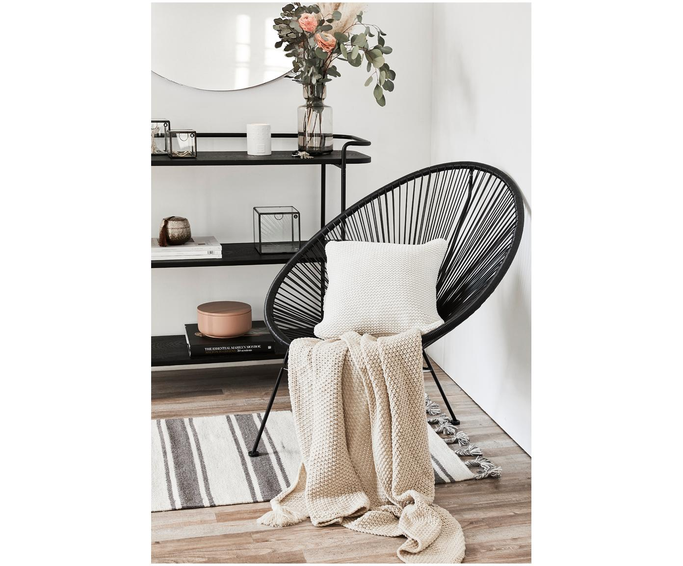 Poszewka na poduszkę z dzianiny Adalyn, 100% bawełna, Biały, S 40 x D 40 cm