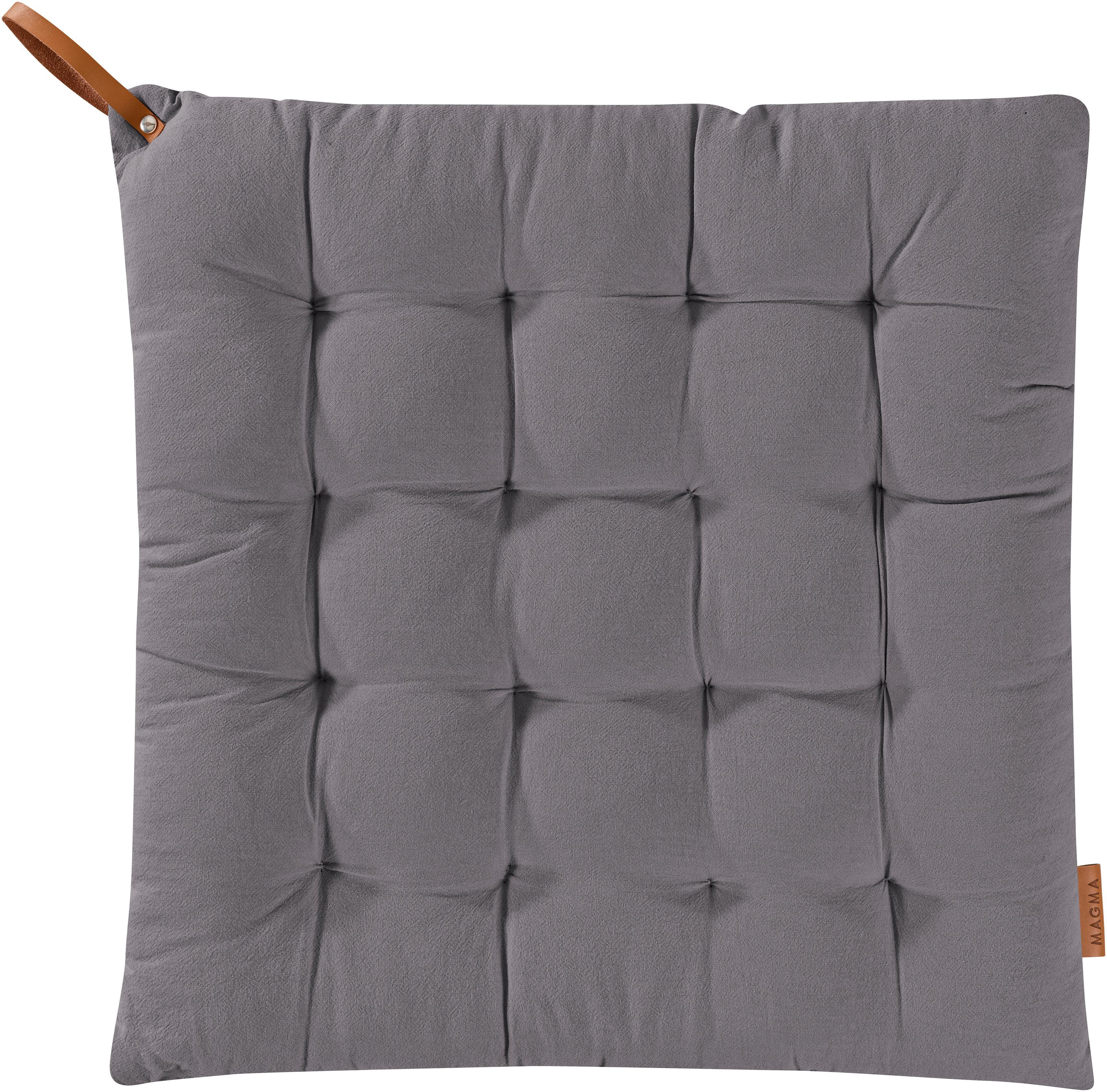 Sitzkissen Billie, 100% Baumwolle, Anthrazit, 40 x 40 cm