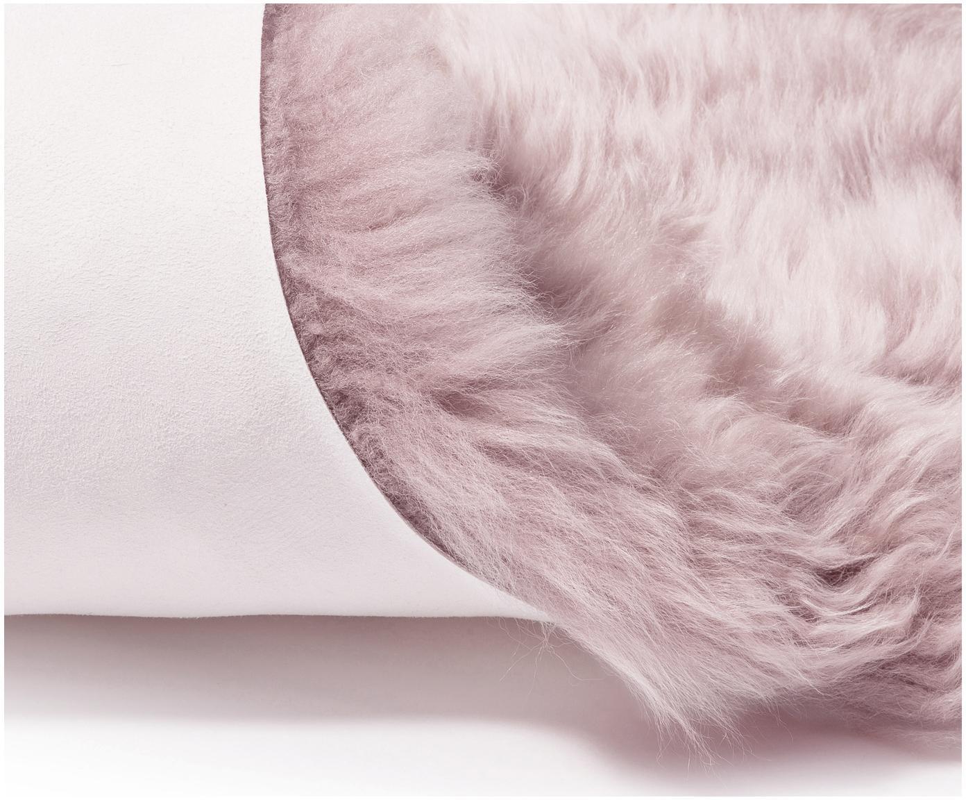 Schaffell-Teppich Oslo, glatt, Flor: 100% Schaffell, Rosa, 60 x 180 cm