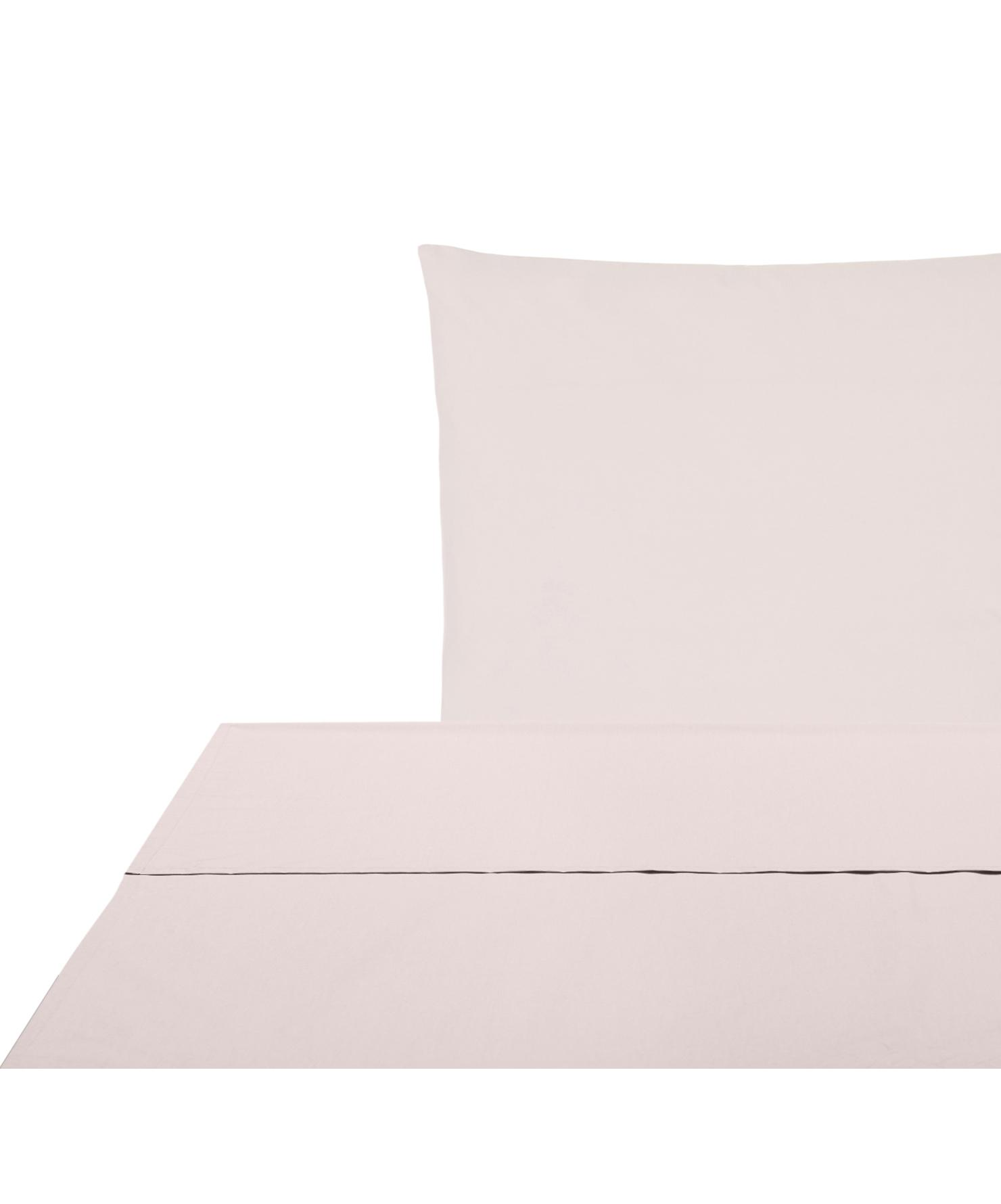 Set lenzuola in percalle Elsie 2 pz, Tessuto: percalle Densità del filo, Rosa, 150 x 300 cm
