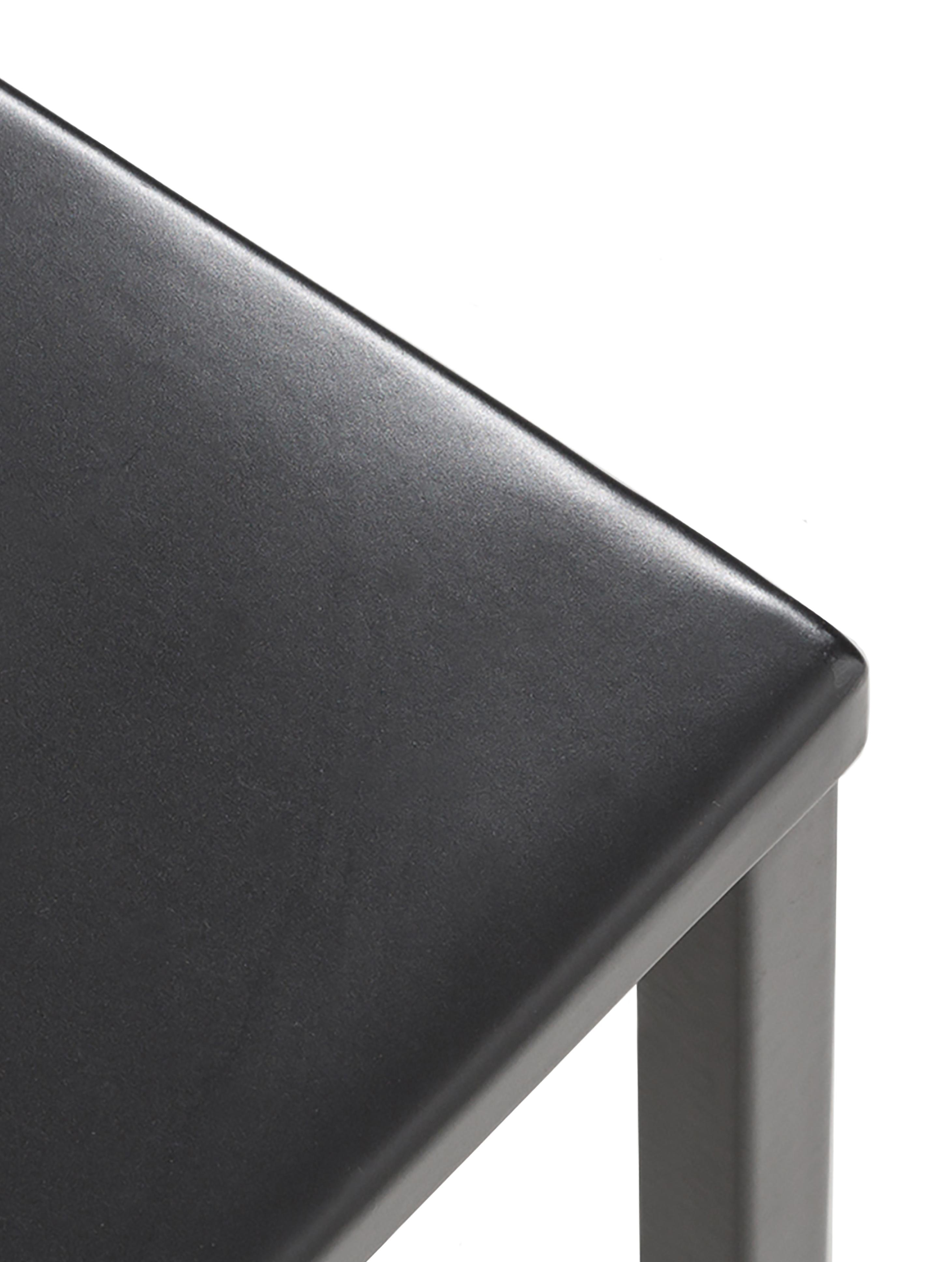 Mesa de centro de metal Stina, Metal con pintura en polvo, Negro mate, An 90 x Al 45 cm