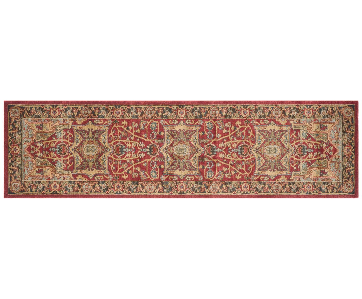 Alfombra Alberto, 100%polipropileno, Rojo, multicolor, An 66 x L 243 cm