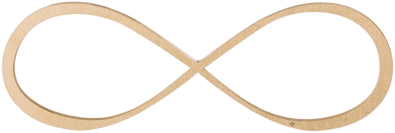 Decorazione da parete in legno laccato Unendlichkeit, Pannelli di fibre a media densità (MDF) verniciato, Dorato, Larg. 20 x Alt. 7 cm