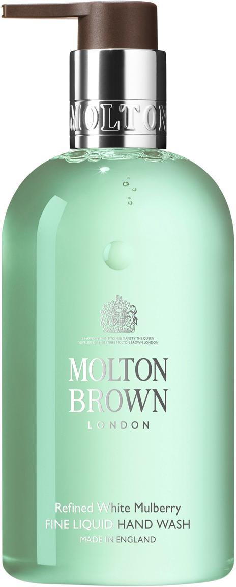Flüssige Handseife Molton (Maulbeere &  Thymian), Behälter: Recycelbarer Kunststoff, Grün, Ø 6 x H 15 cm