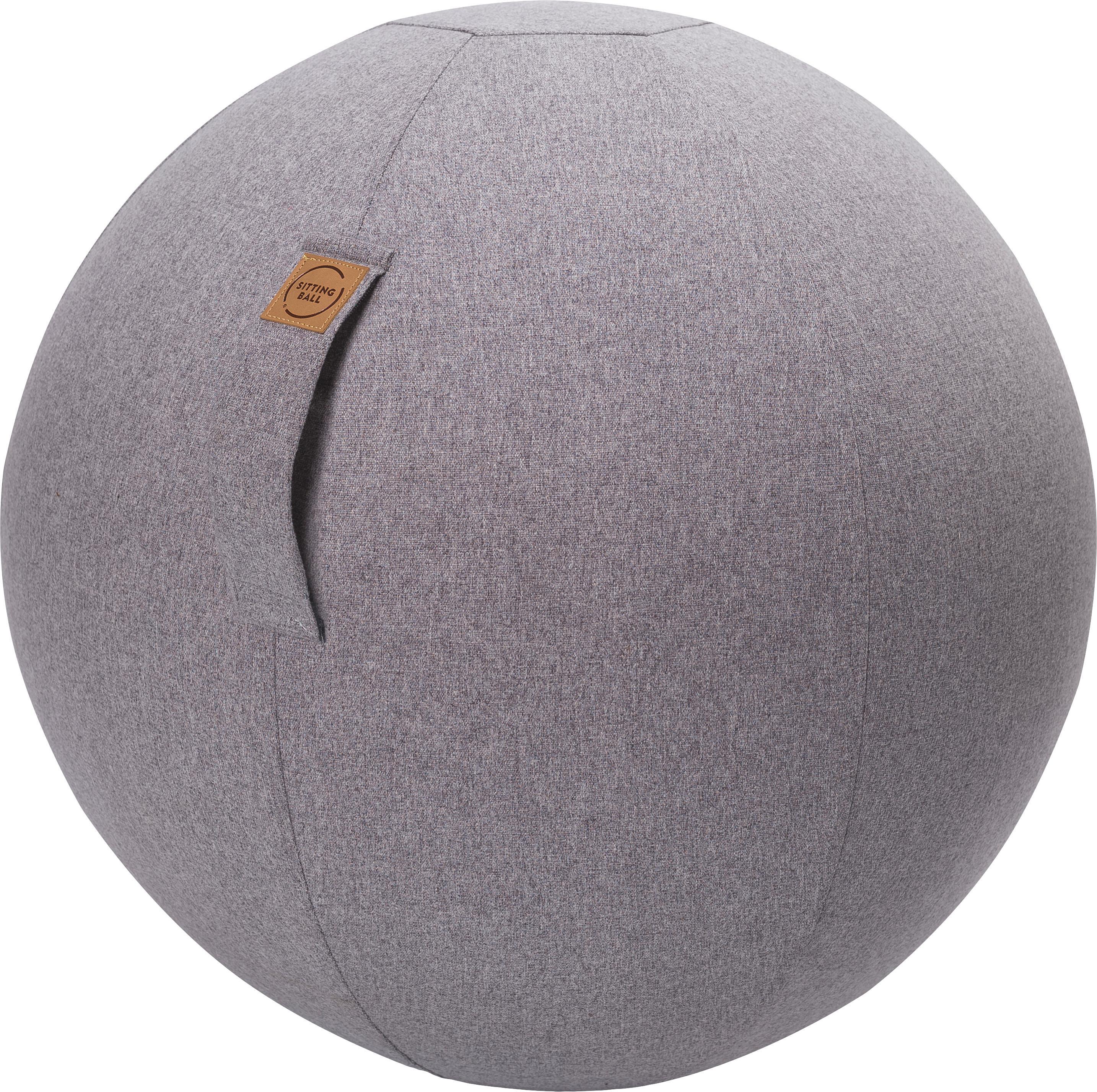 Seduta a sfera Felt, Rivestimento: poliestere (imitazione fe, Grigio chiaro, Ø 65 cm