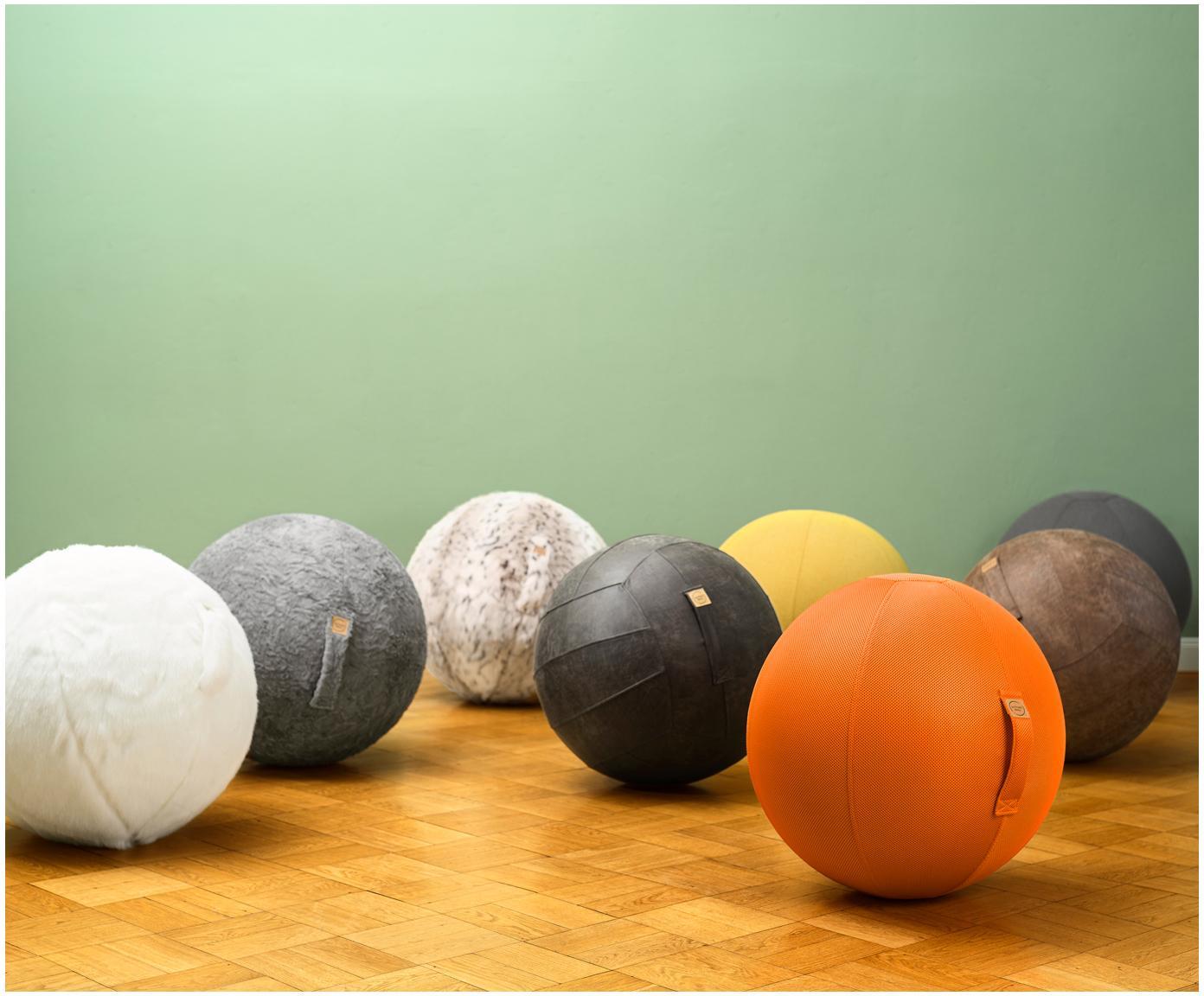 Piłka do siedzenia Felt, Tapicerka: poliester (imitacja filcu, Jasny szary, Ø 65 cm