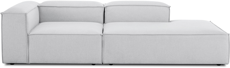 Modulaire chaise longue Lennon, Bekleding: polyester, Frame: massief grenenhout, multi, Poten: kunststof, Lichtgrijs, B 269 x D 119 cm