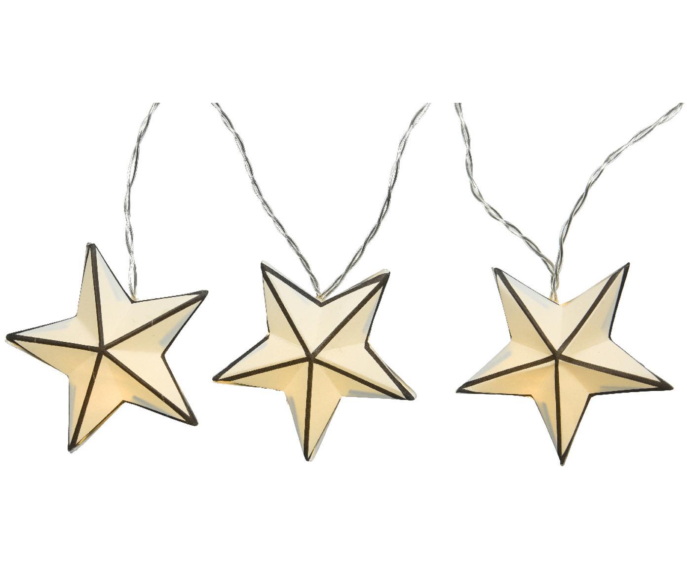 LED Lichterkette Stars, Weiß, Schwarz, L 380 cm
