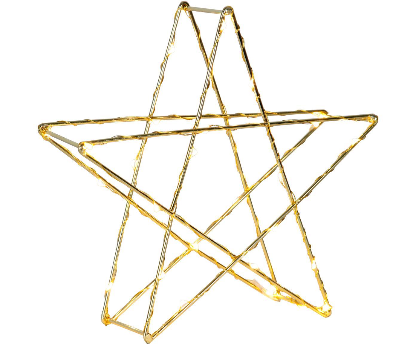 LED Leuchtobjekt Stern, batteriebetrieben, Goldfarben, 25 x 25 cm