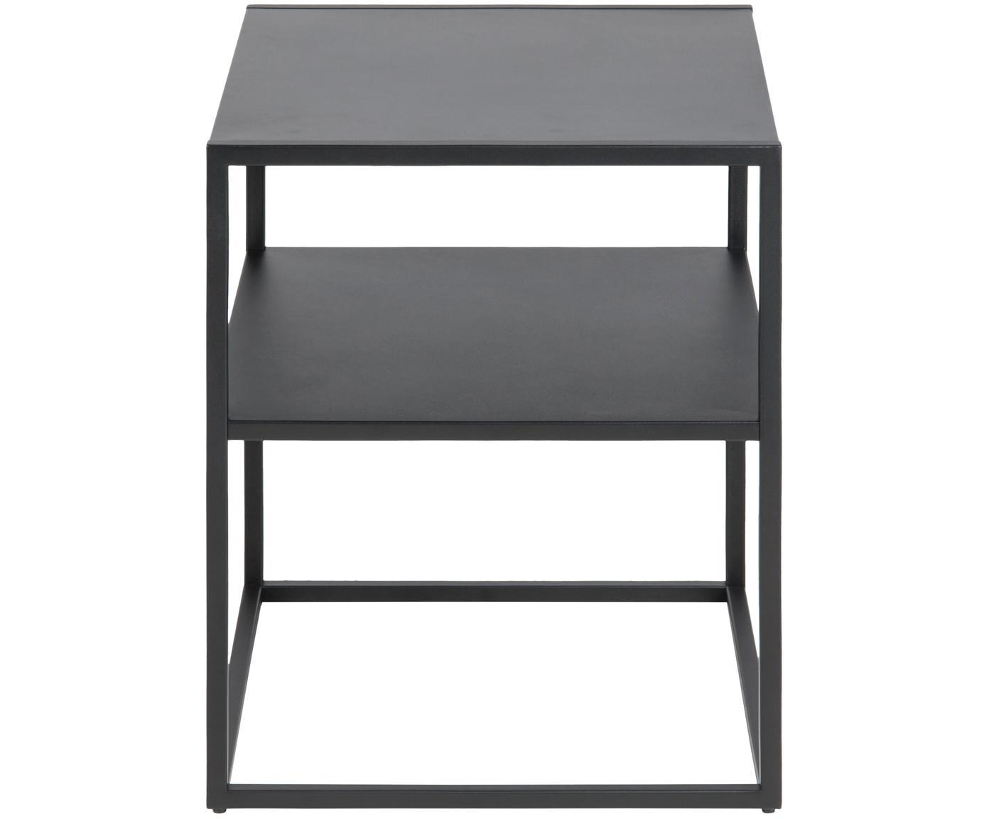 Stolik pomocniczy czarny z metalu Newton, Metal malowany proszkowo, Czarny, S 45 x G 40 cm