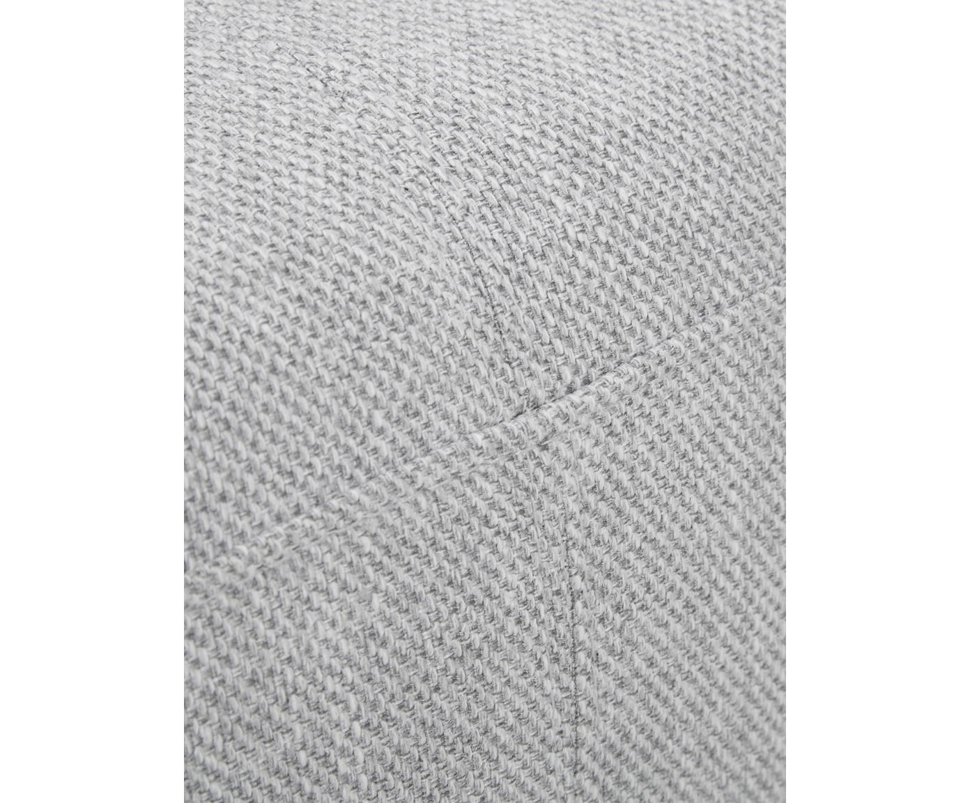 Divano 2 posti in tessuto grigio chiaro Ramira, Rivestimento: poliestere 40.000 cicli d, Struttura: legno di pino massiccio, , Piedini: metallo, verniciato a pol, Tessuto grigio chiaro, Larg. 151 x Prof. 76 cm