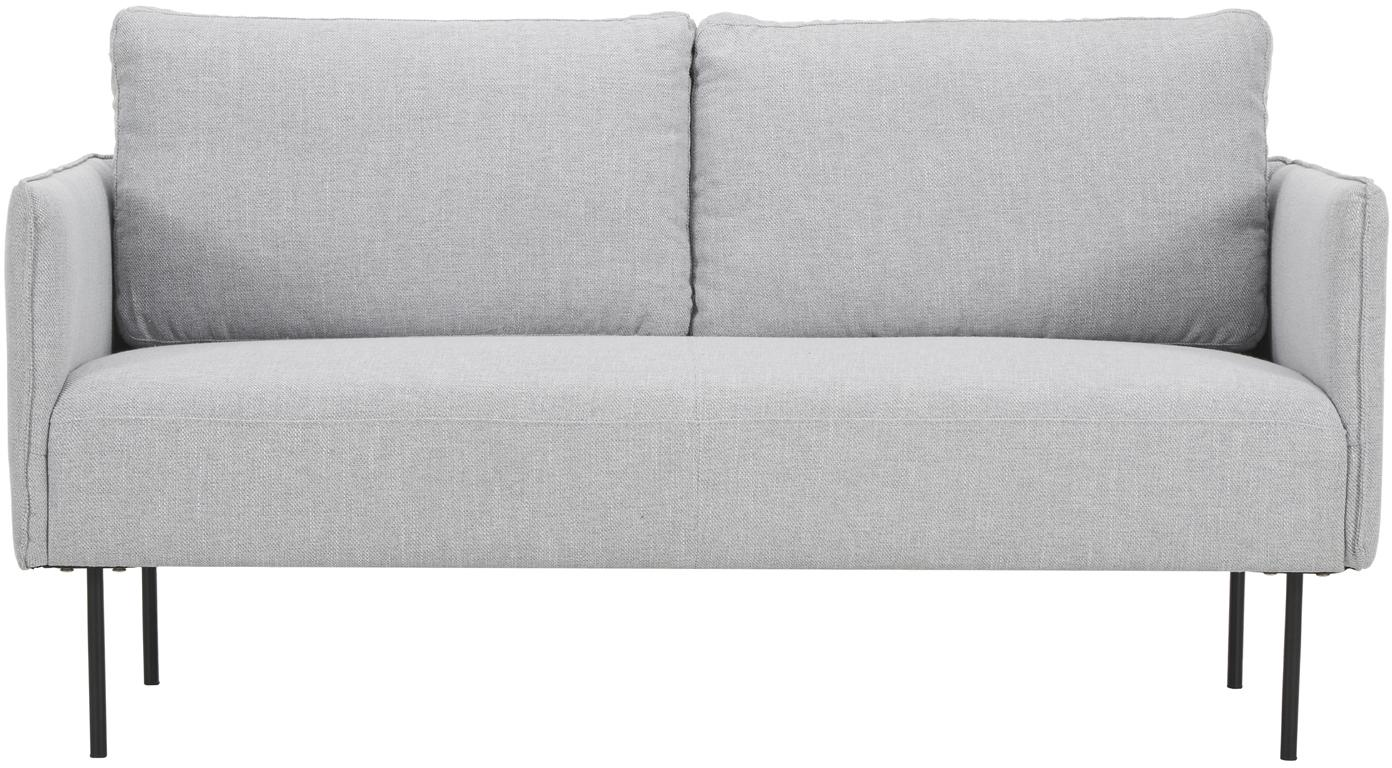 Sofa Ramira (2-Sitzer), Bezug: Polyester 40.000 Scheuert, Gestell: Massives Kiefernholz, Spe, Webstoff Hellgrau, B 151 x T 76 cm