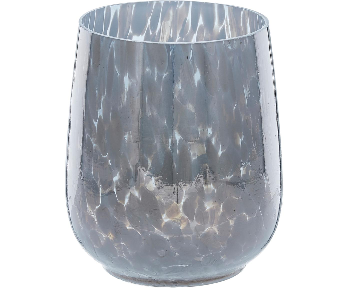 Teelichthalter Gunia, Glas, Blau, Ø 9 x H 12 cm