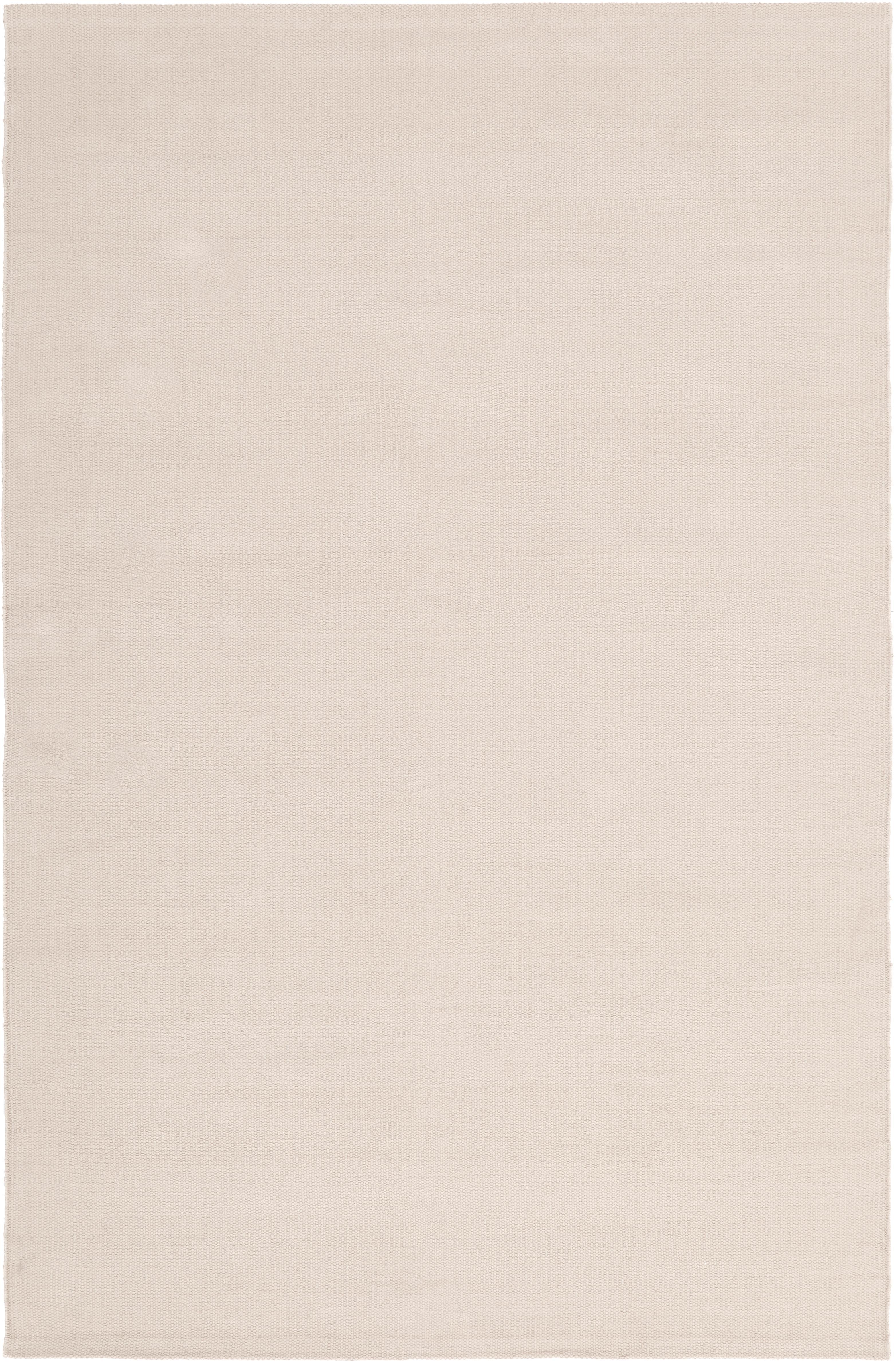 Dünner Baumwollteppich Agneta, handgewebt, 100% Baumwolle, Beige, B 120 x L 180 cm (Grösse S)