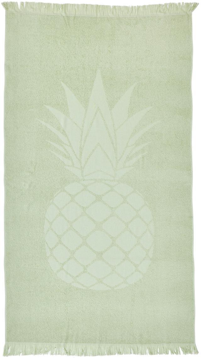 Strandtuch Capri Pineapple, Hellgrün, 90 x 160 cm