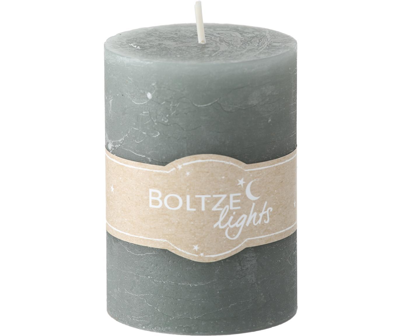 Kerzen-Set Birara, 3-tlg., Blau, Braun, Cremefarben, Ø 7 x H 10 cm