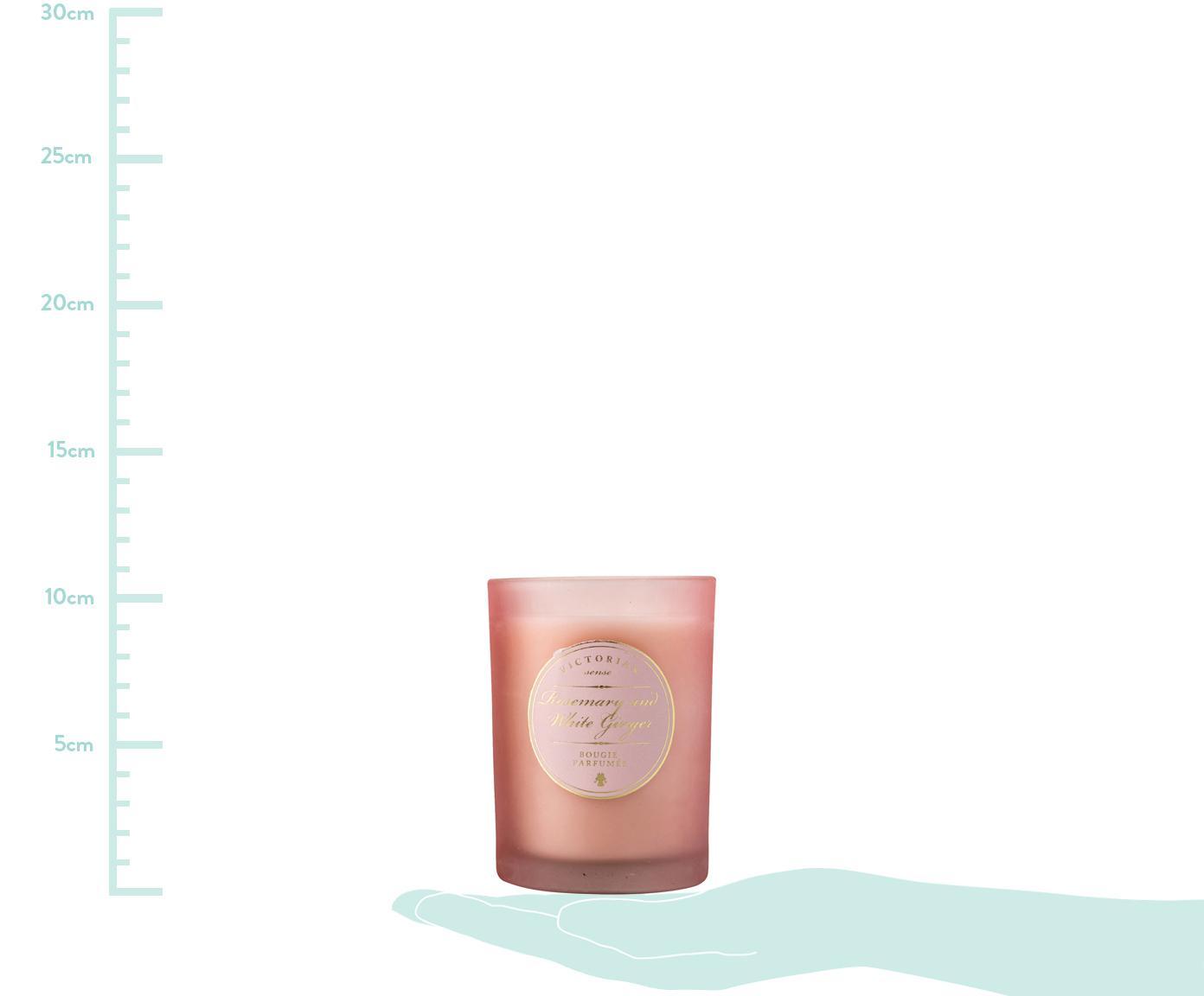 Świeca zapachowa Sense (rozmaryn i biały imbir), Pojemnik: różowy<br>Wosk: biały, Ø 9 x W 11 cm