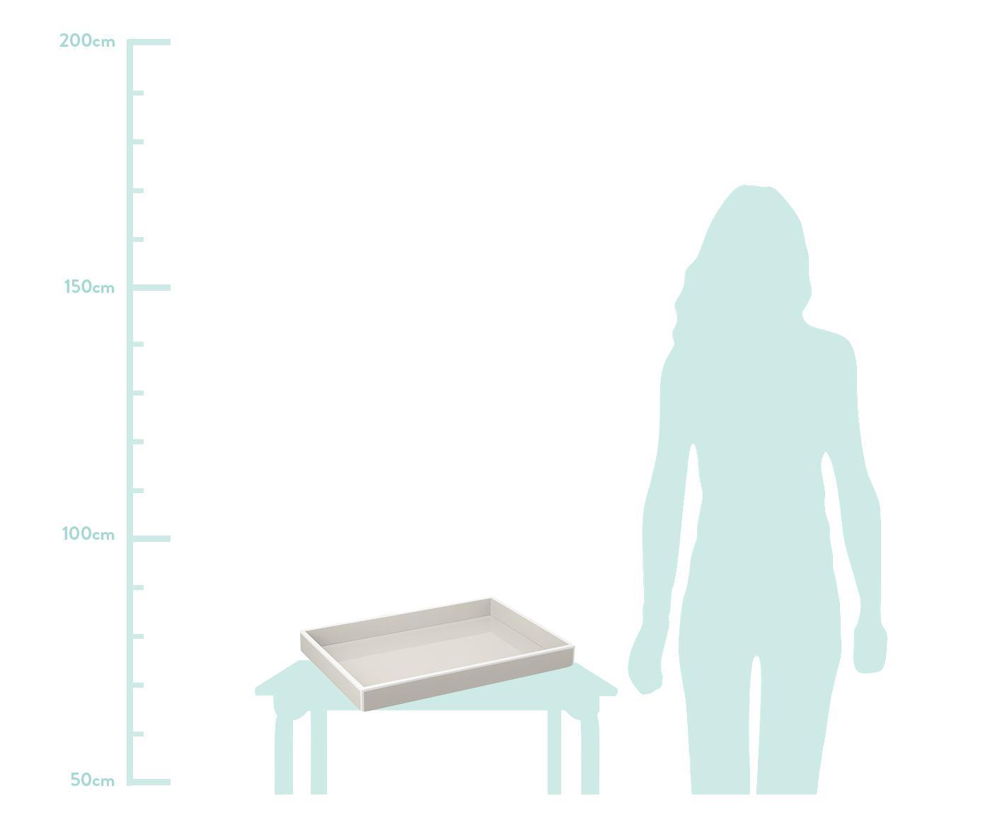 Taca Hayley, Taupe z jaśniejszą krawędzią  Spód: jasny szary, S 50 x G 35 cm
