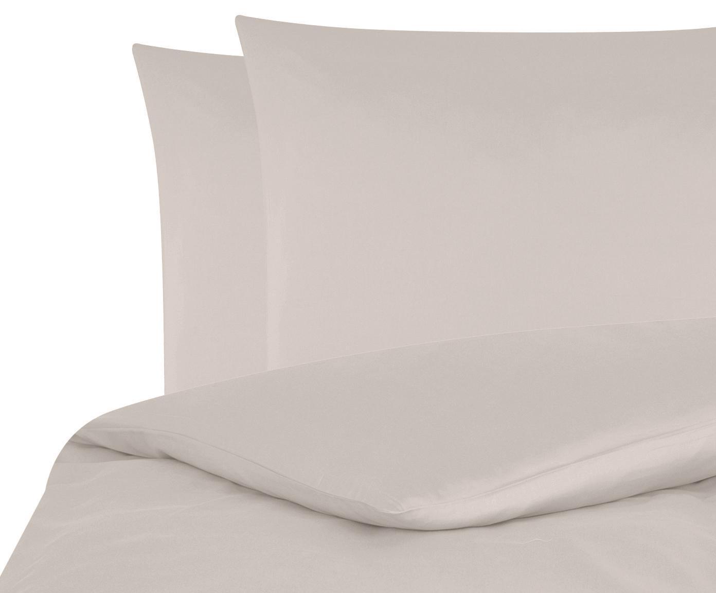 Baumwollsatin-Bettwäsche Comfort in Taupe, Webart: Satin Fadendichte 250 TC,, Taupe, 240 x 220 cm + 2 Kissen 80 x 80 cm