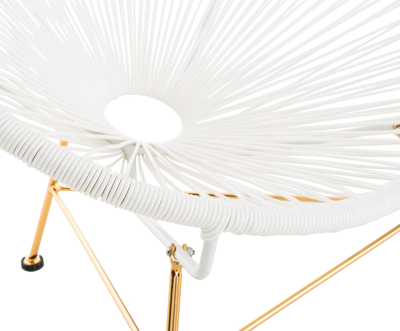 Fauteuil acapulco Grace, Assise: blanc Structure: couleur dorée