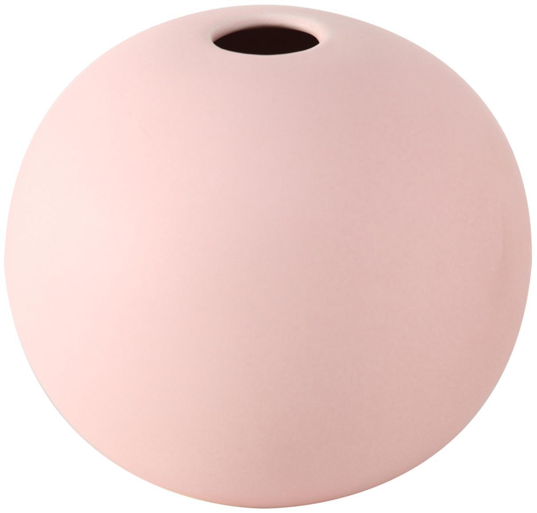 Jarrón de gres Dilan, pequeño, Gres, Caqui, blanco, Ø 12 x Al 11 cm