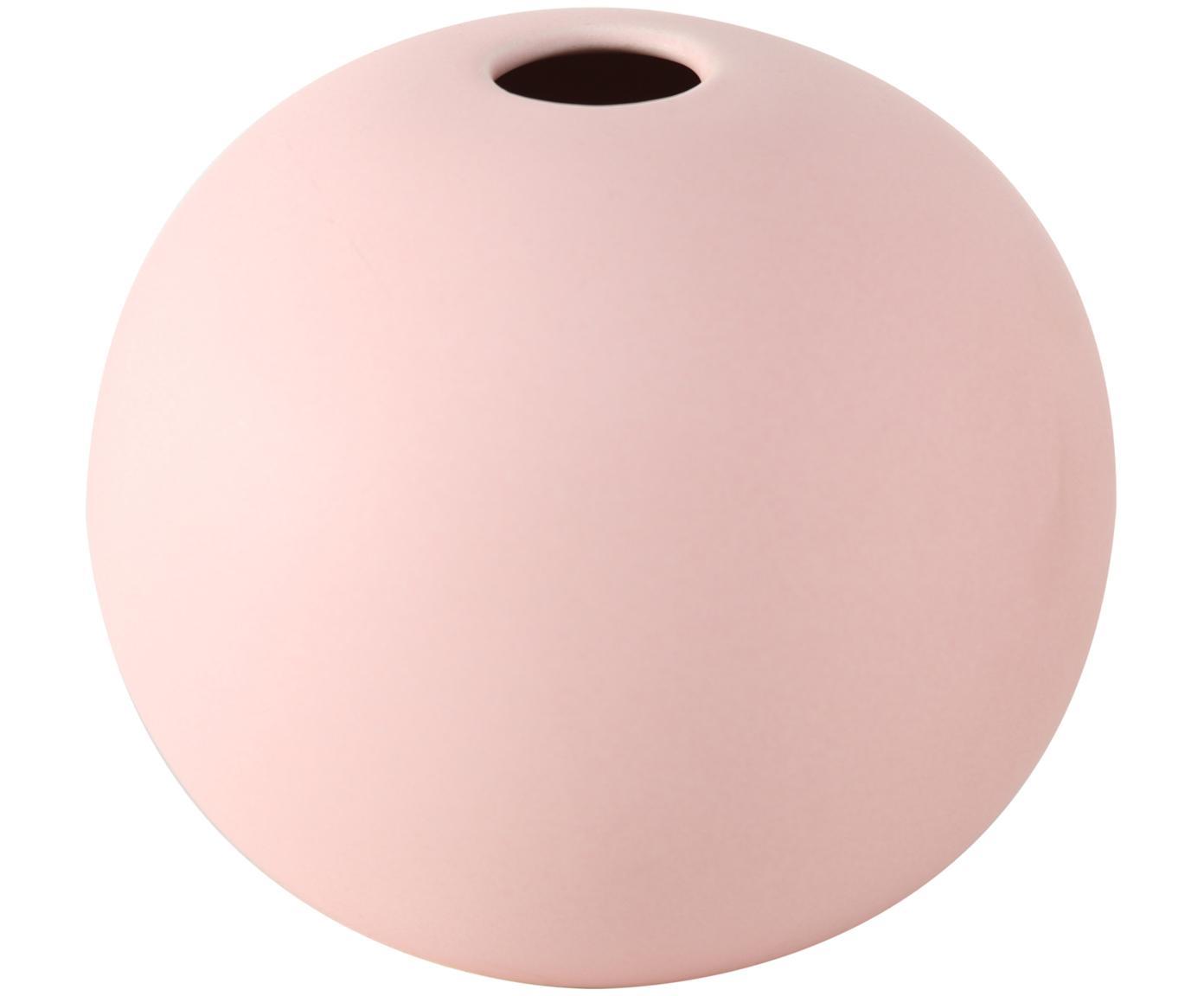 Mały wazon z kamionki Dilan, Kamionka, Blady różowy, Ø 12 x W 11 cm