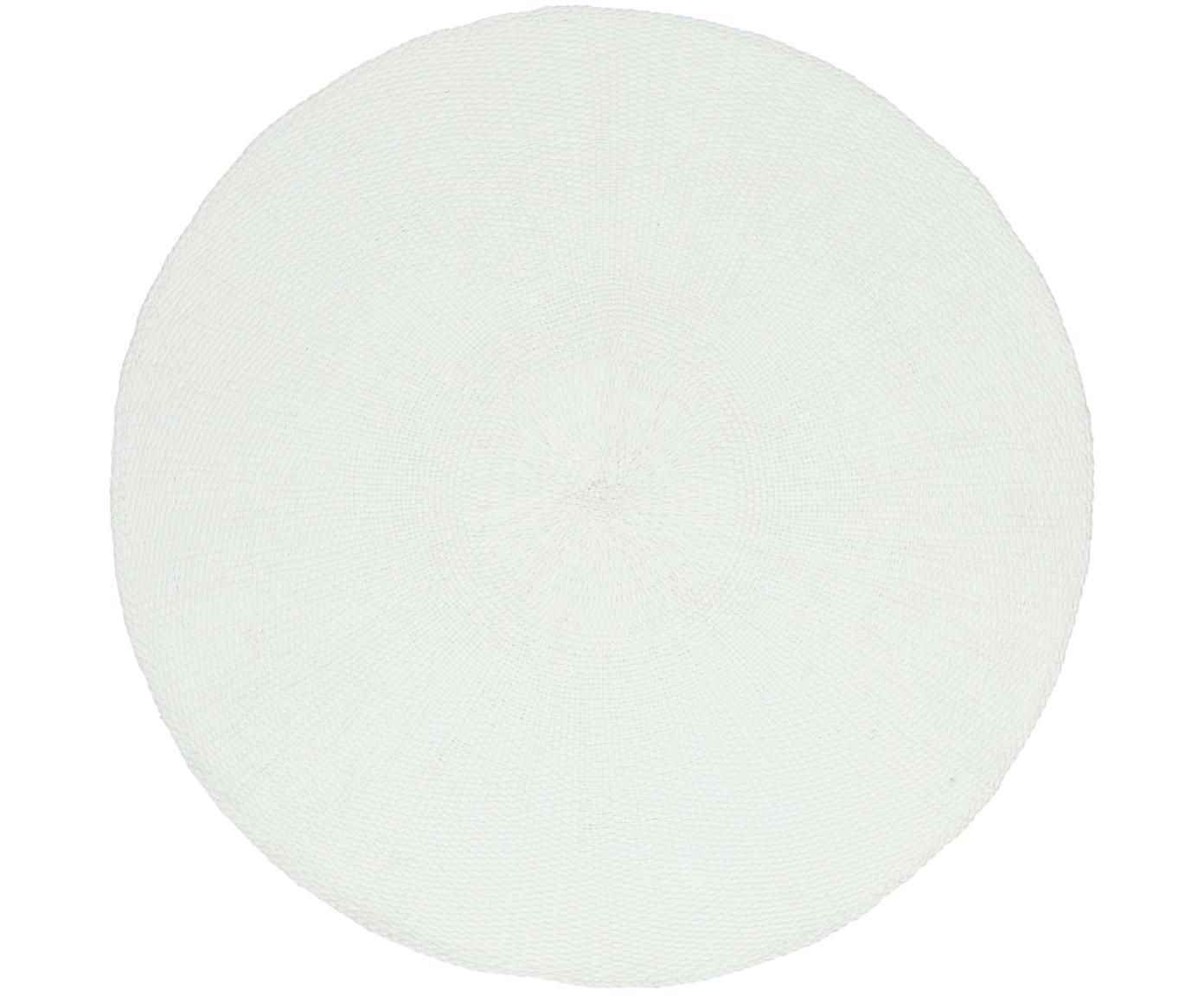 Ronde placemats Kolori, 2 stuks, Papiervezels, Wit, Ø 38 cm